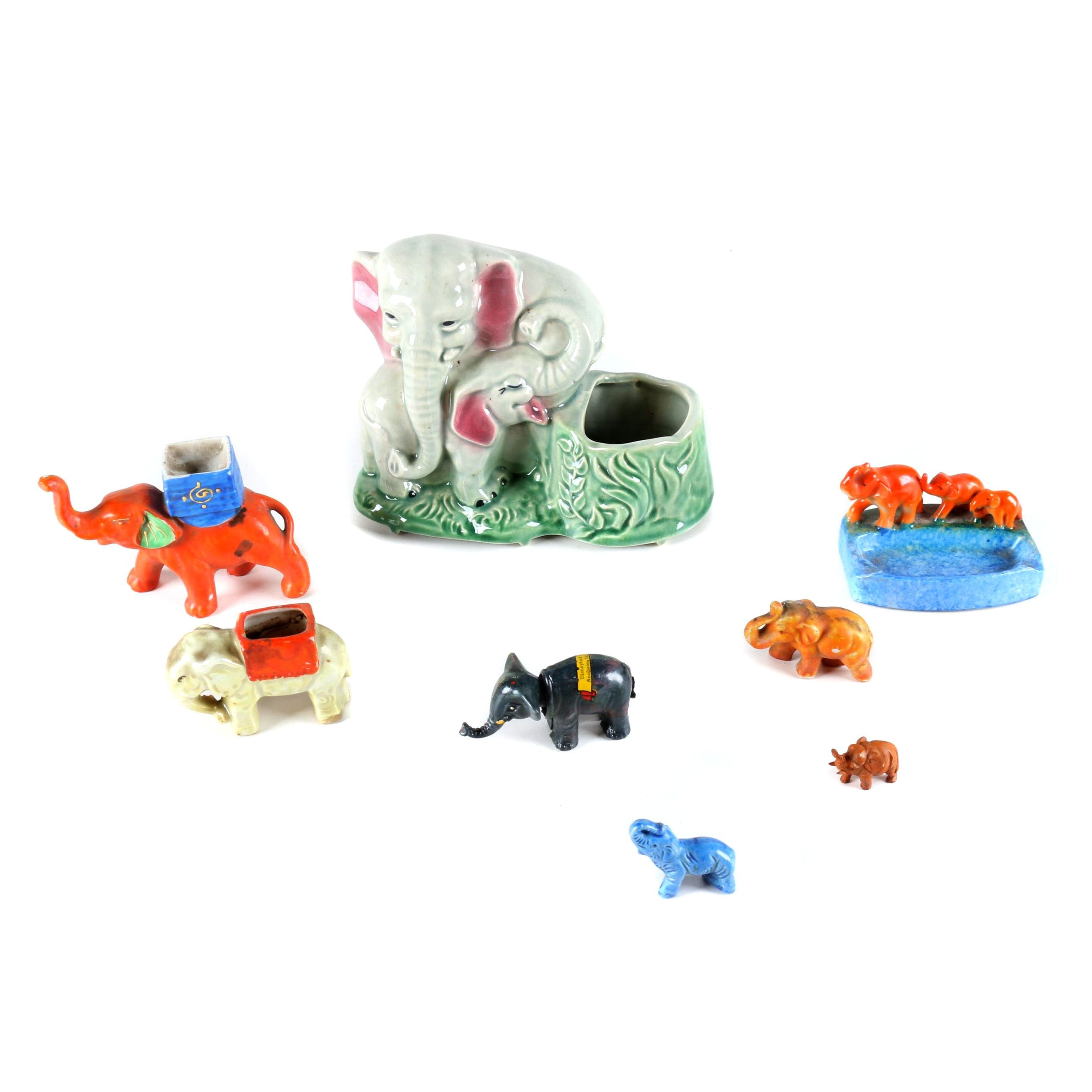 Ceramic Elephant Figurines