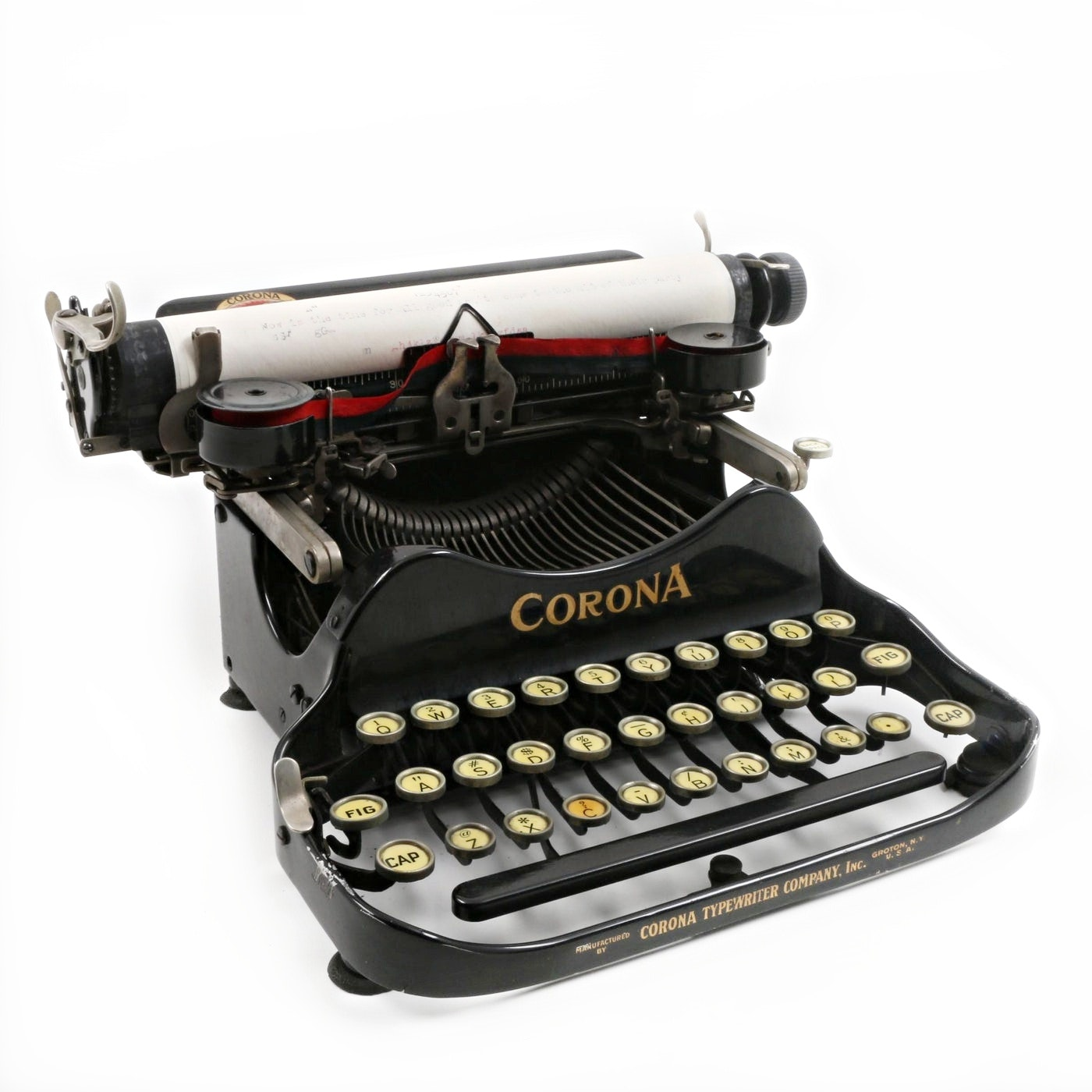 1917 Corona 3 Folding Typewriter with Carrying Case