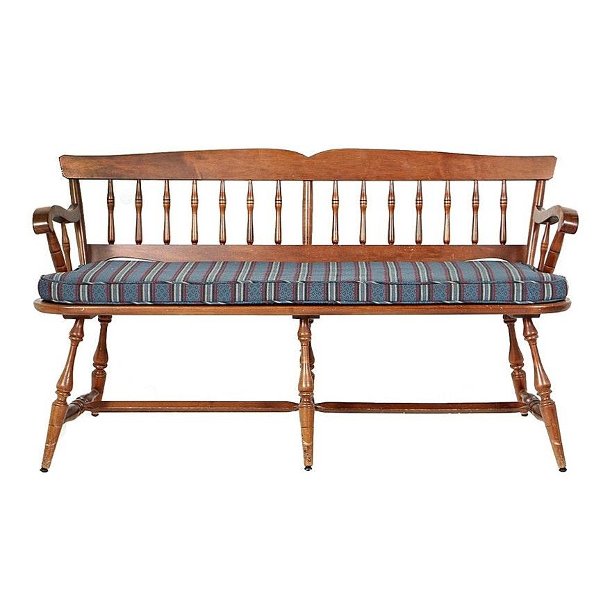 Vintage Windsor Style Maple Settee