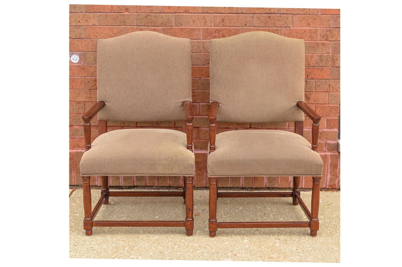 Oak Armchairs by Restoration Hardware