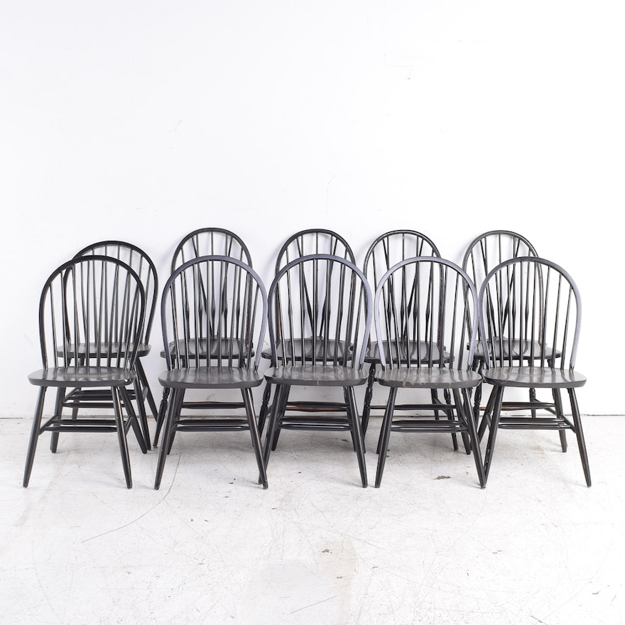 Black Windsor Style Dining Chairs Ebth