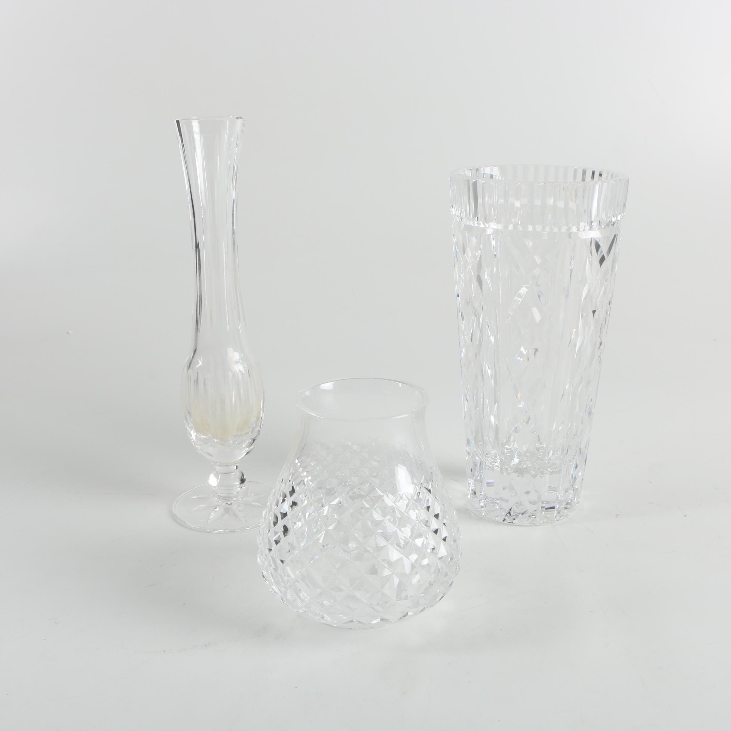 Waterford Crystal Vases with a Hurricane Shade