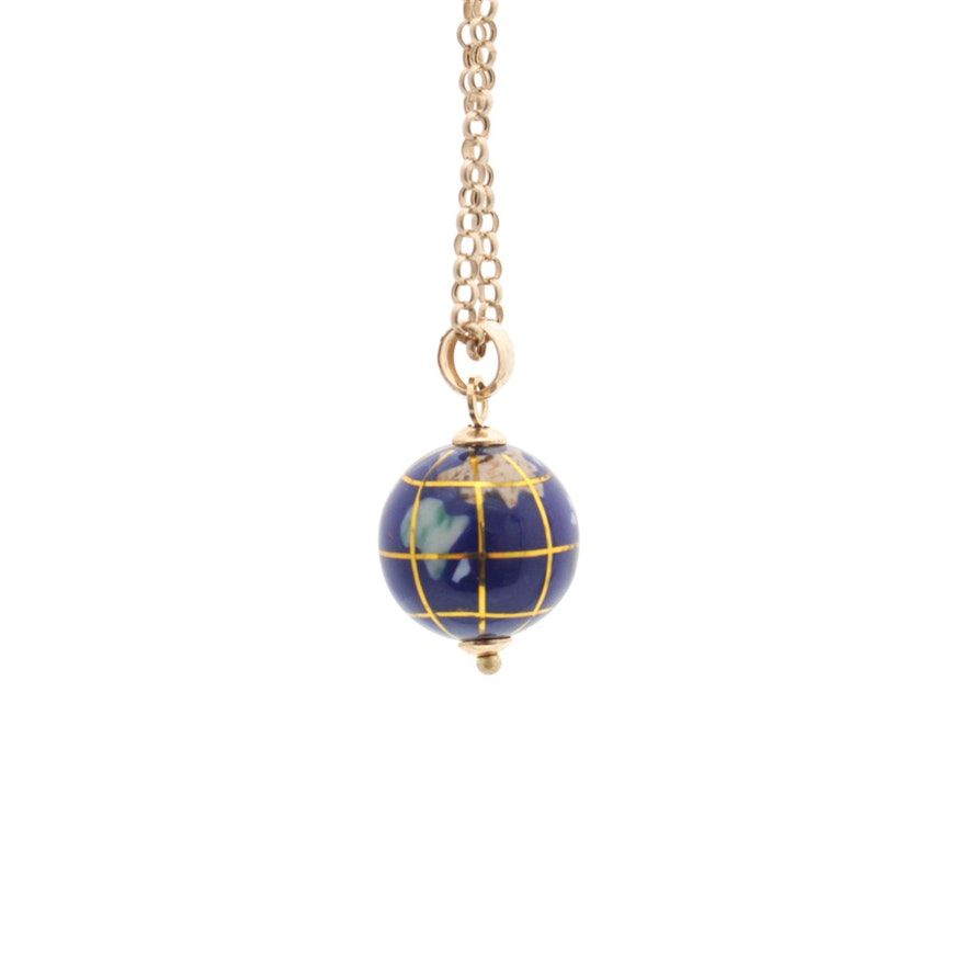 10k yellow gold multi gemstone globe pendant necklace ebth 10k yellow gold multi gemstone globe pendant necklace mozeypictures Gallery