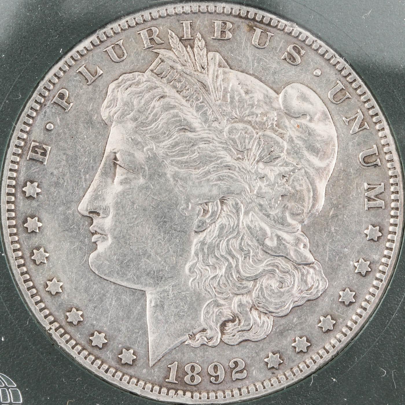 Low Mintage 1892 S Silver Morgan Dollar
