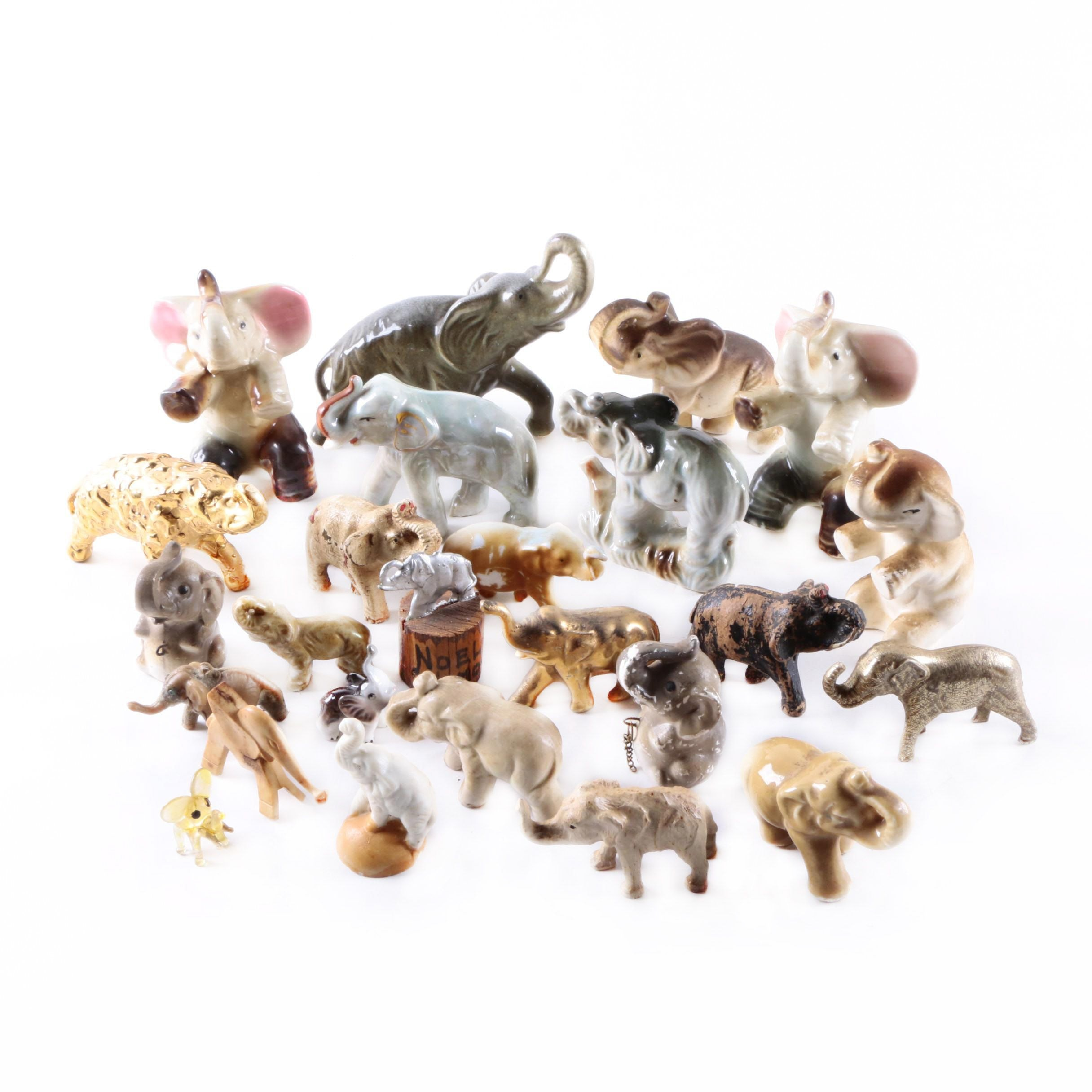Large Collection of Elephant Figurines
