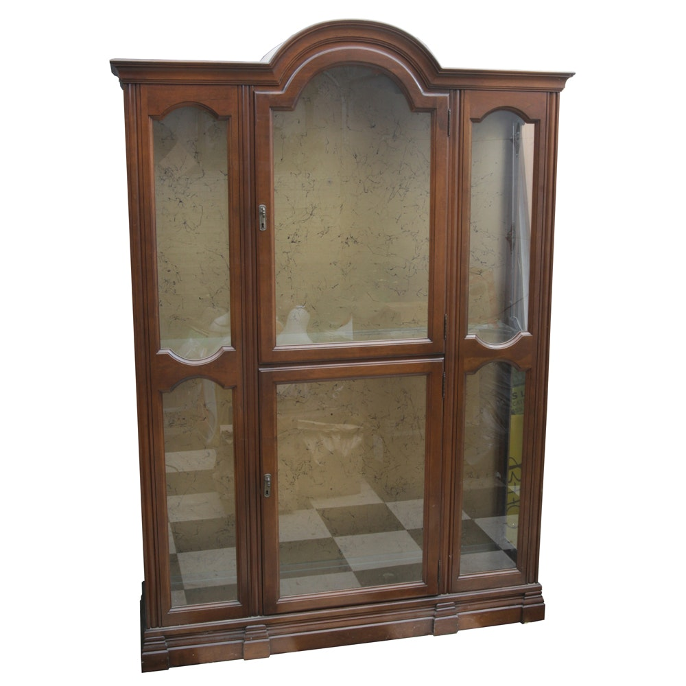 Cherry Lighted Display Cabinet