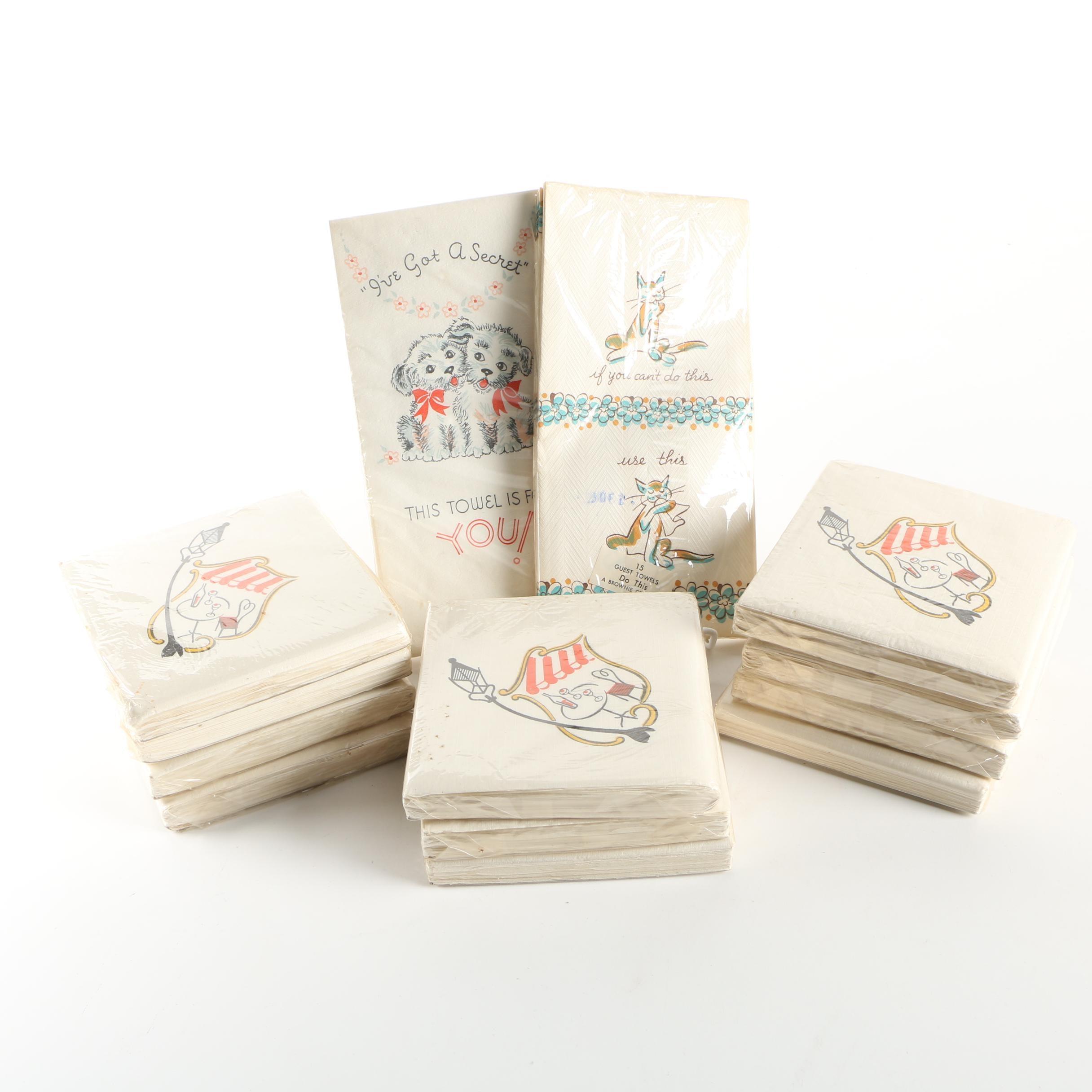 Vintage Cocktail Napkin and Guest Towel Assortment