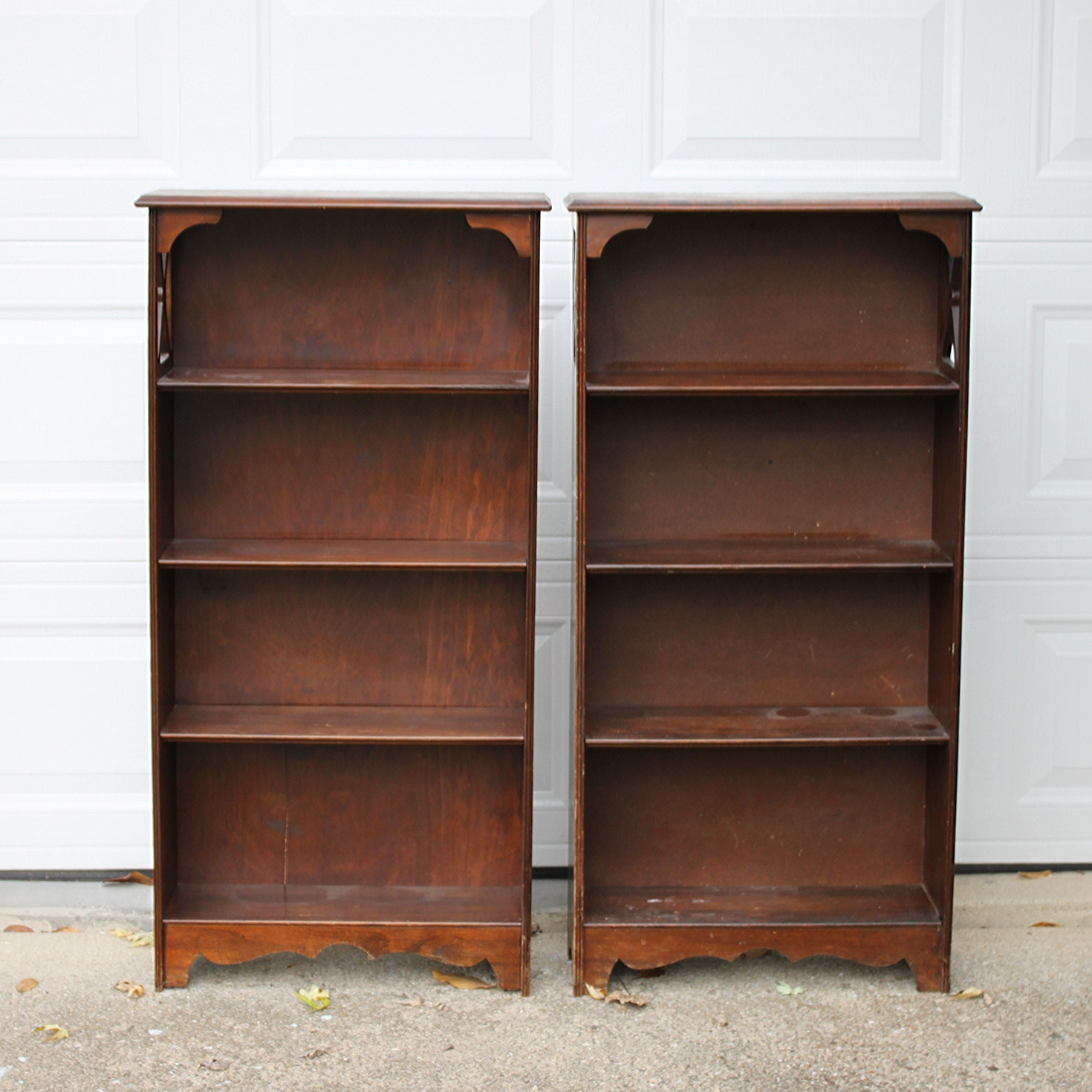 Vintage Walnut Bookcases
