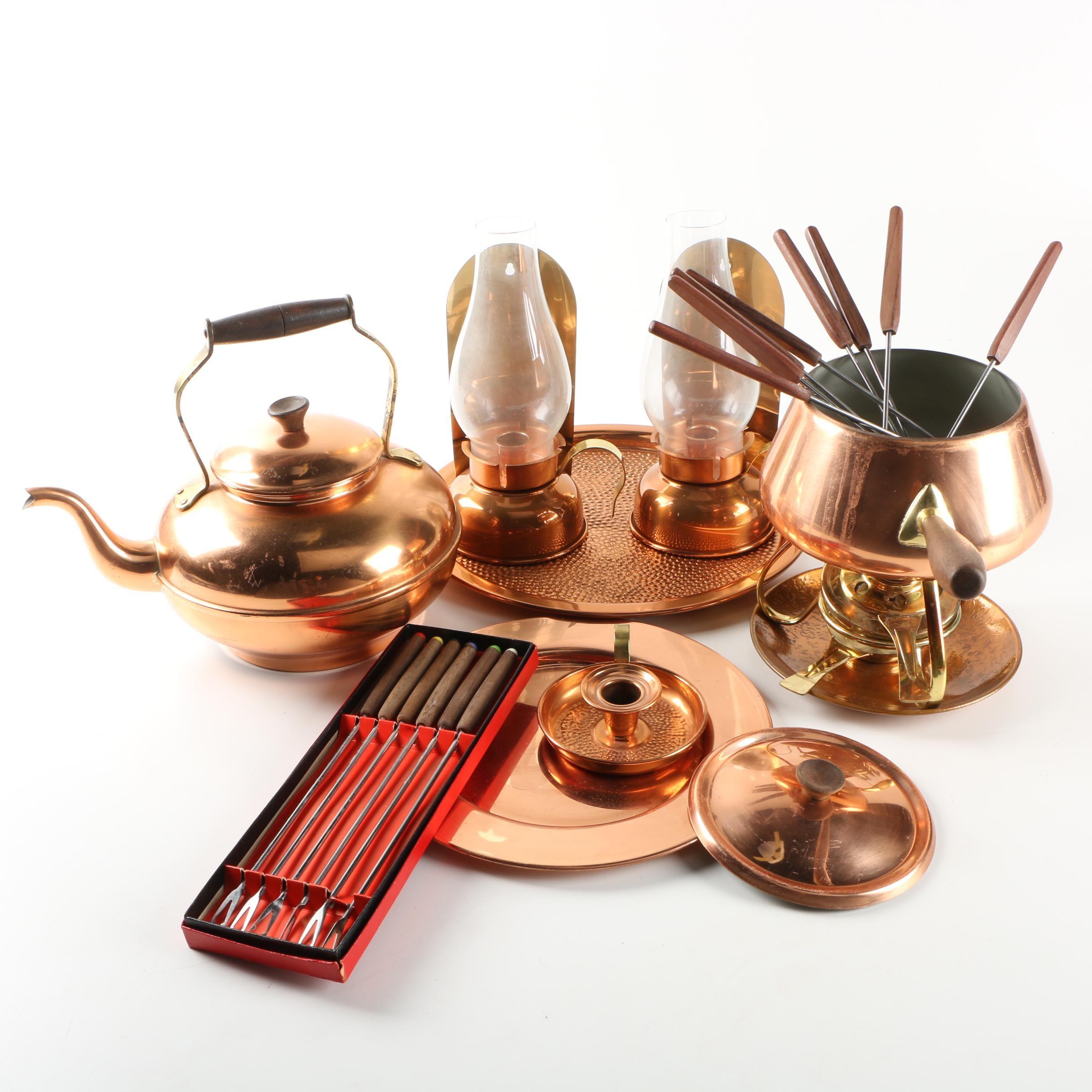Copper Tableware Featuring Tagus ...  sc 1 st  EBTH.com & Copper Tableware Featuring Tagus : EBTH