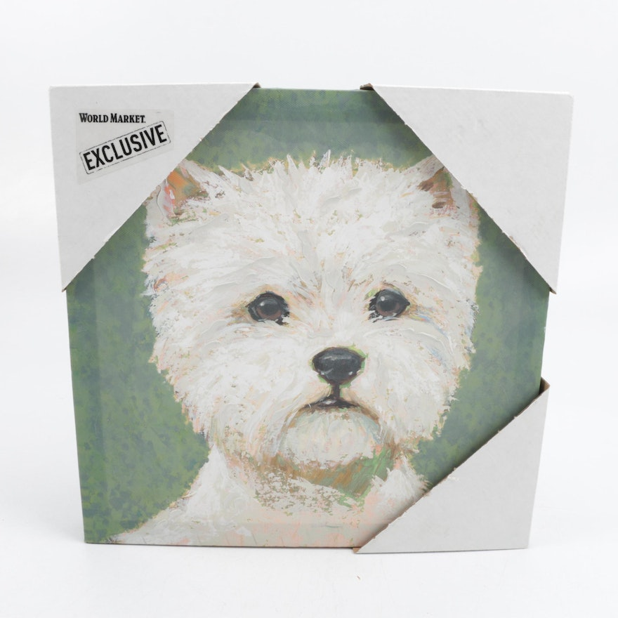 Reproduction print of a west highland white terrier on canvas ebth reproduction print of a west highland white terrier on canvas m4hsunfo