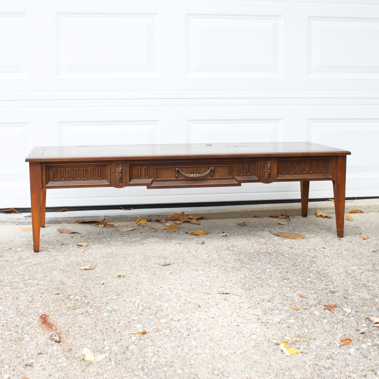 Vintage Neoclassical Style Coffee Table
