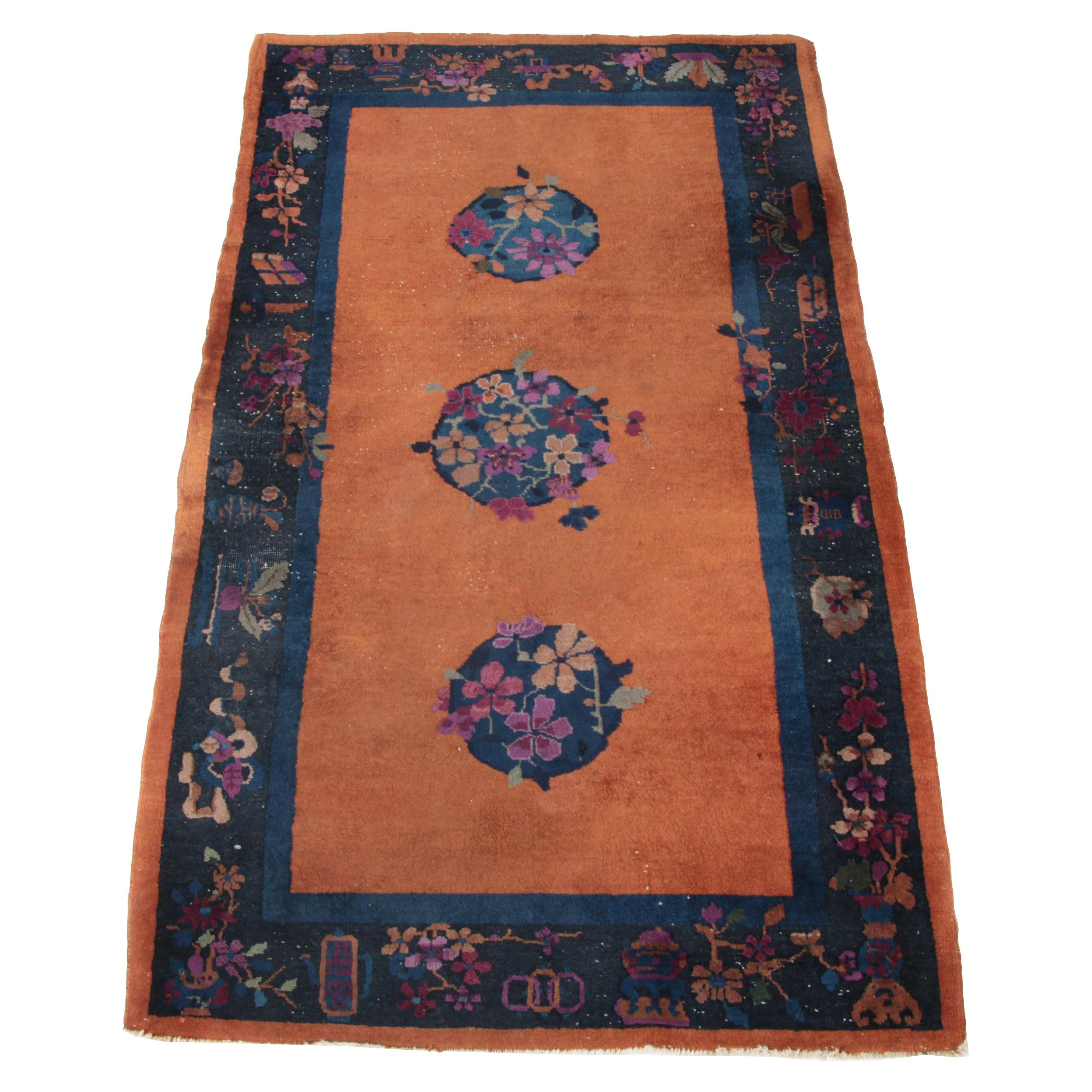 Semi-Antique Chinese Nichols Deco Area Rug