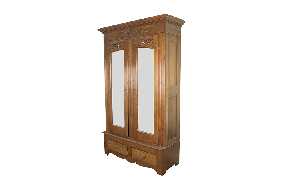 Vintage antique furniture wardrobe walnut armoire 1stdibs Antique Victorian Walnut Wardrobe Ncaddinfo Online Furniture Auctions Vintage Furniture Auction Antique