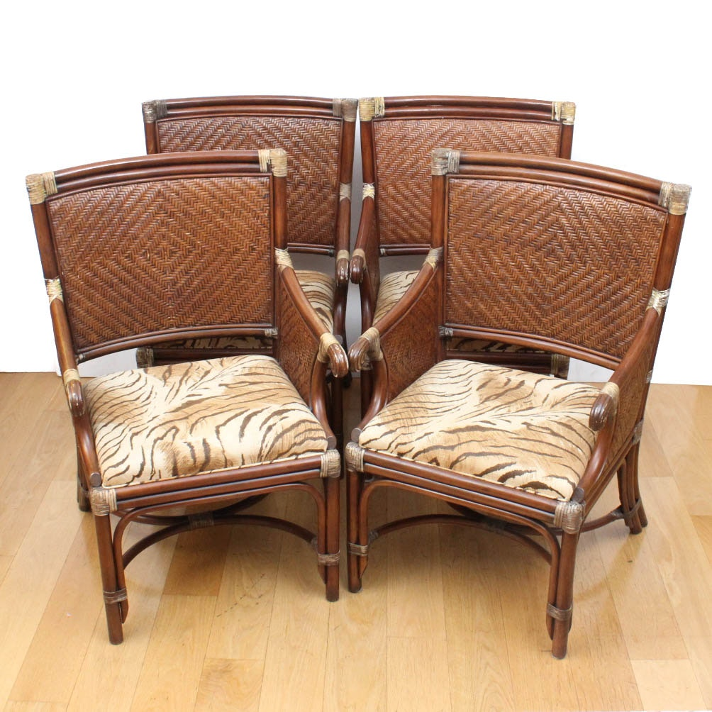 Regency Style Caned and Upholstered Chairs