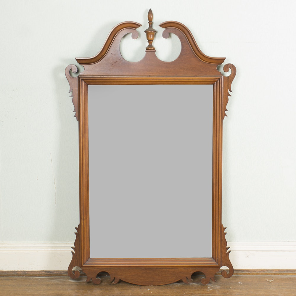 Antique Chippendale Style Wall Mirror