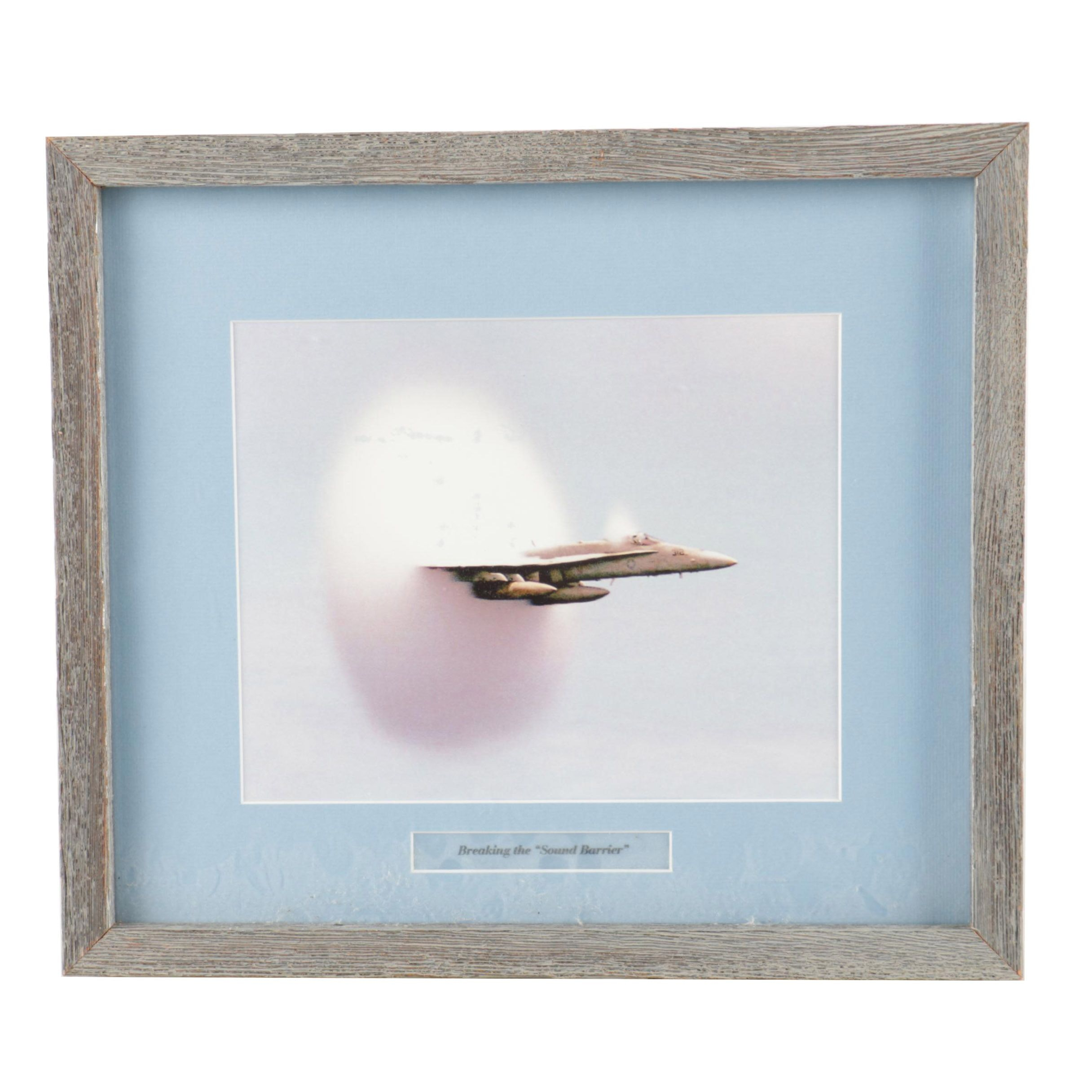 """Reproduction Print on Paper """"Breaking the """"Sound Barrier"""""""""""