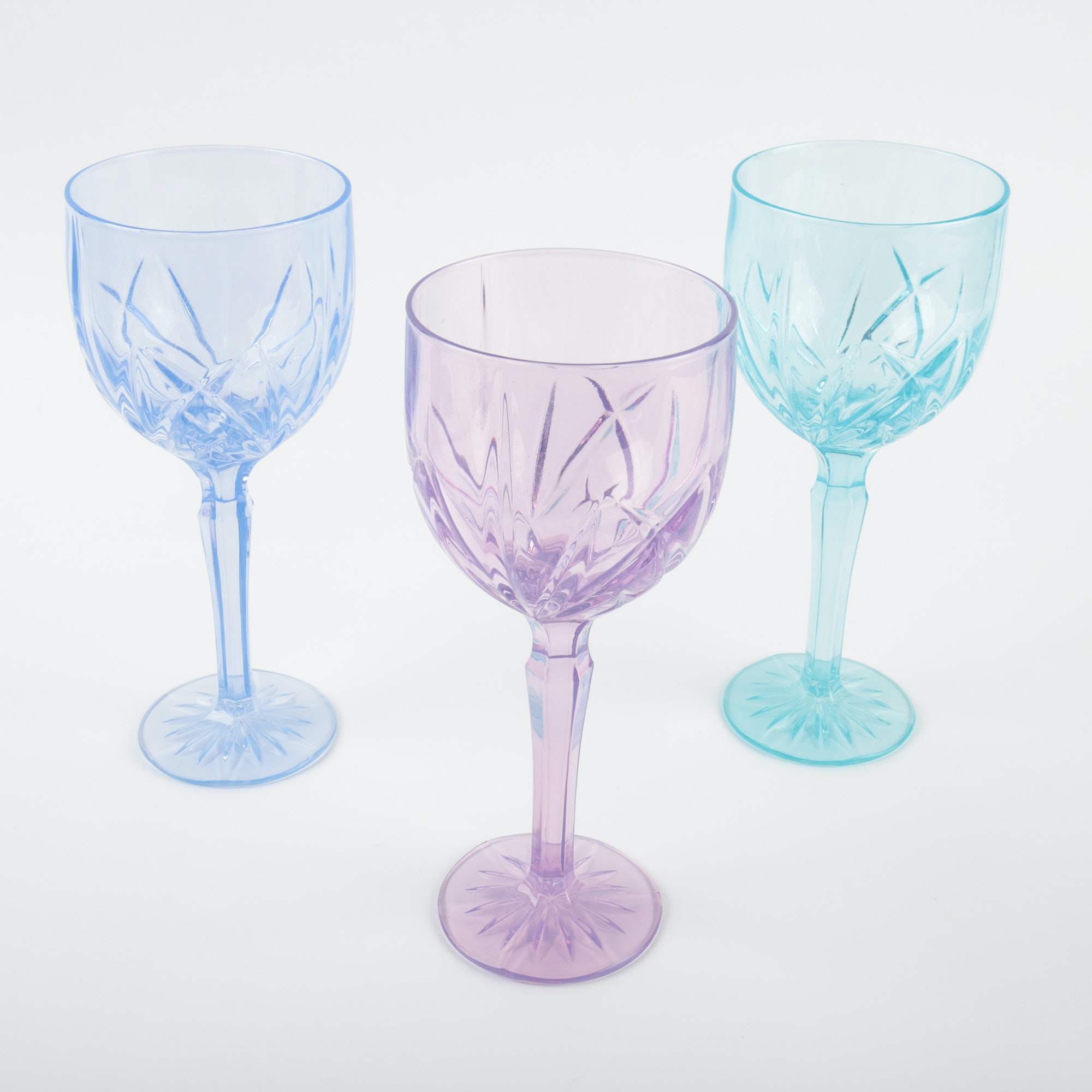 "Marquis by Waterford ""Brookside"" Pastel Crystal Goblets"