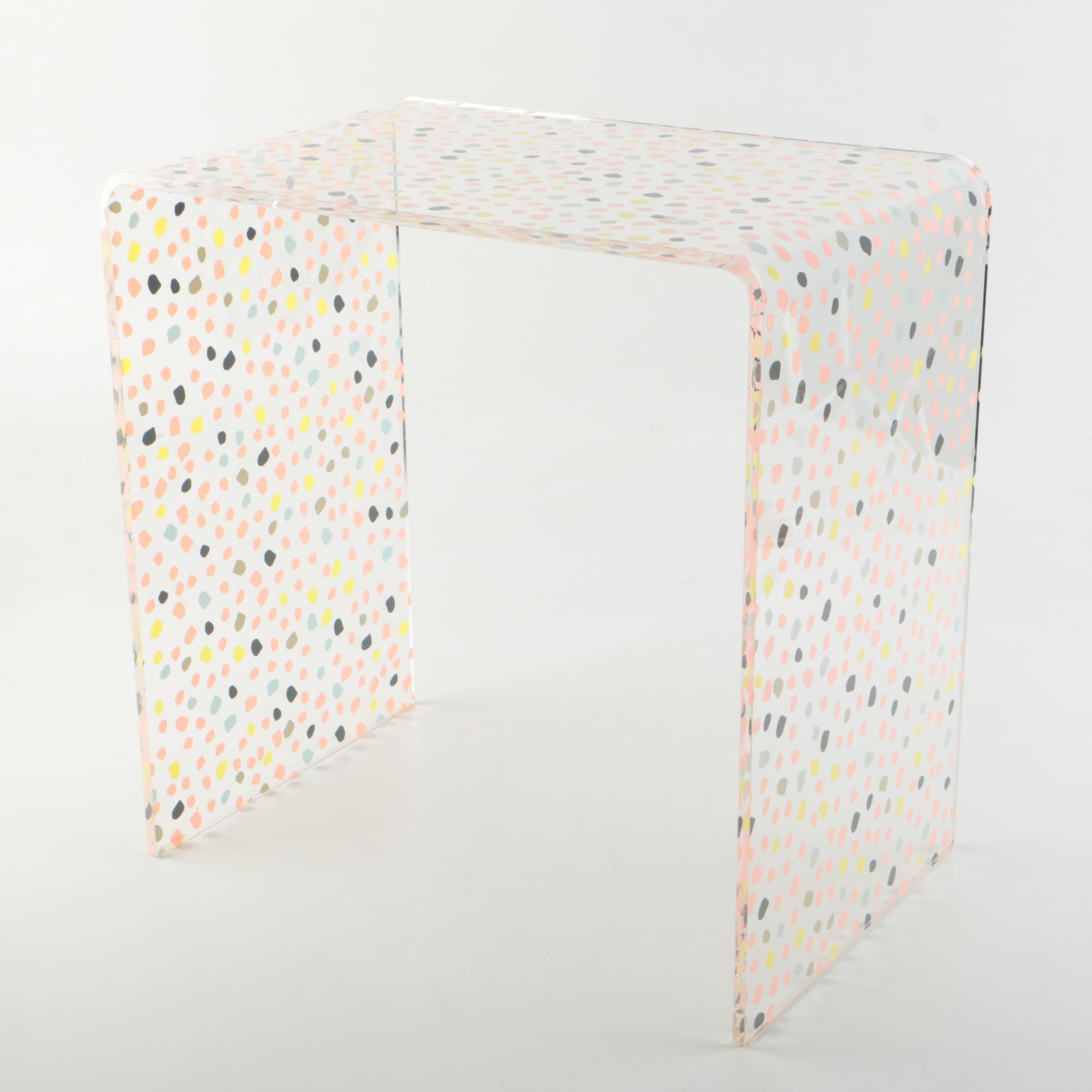 Modern Style Acrylic End Table