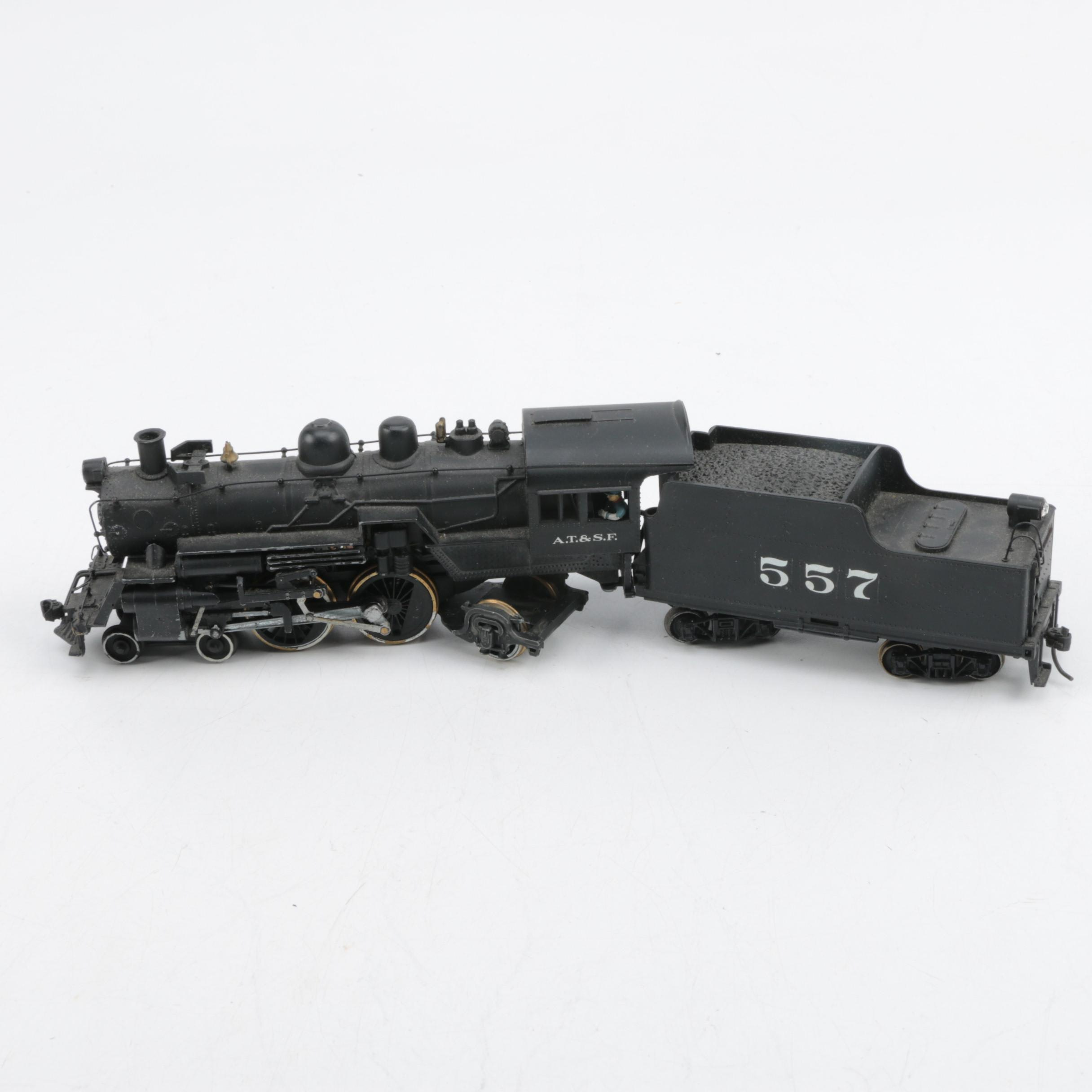 Hallmark Models A.T. & S.F. Steam Locomotive with Tender