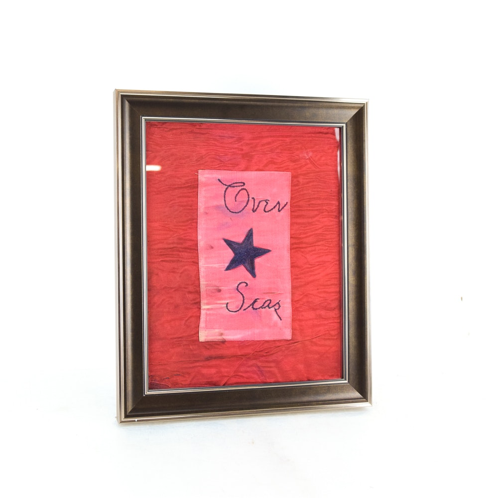 Framed Regiment Banner Inspired Silk Flag
