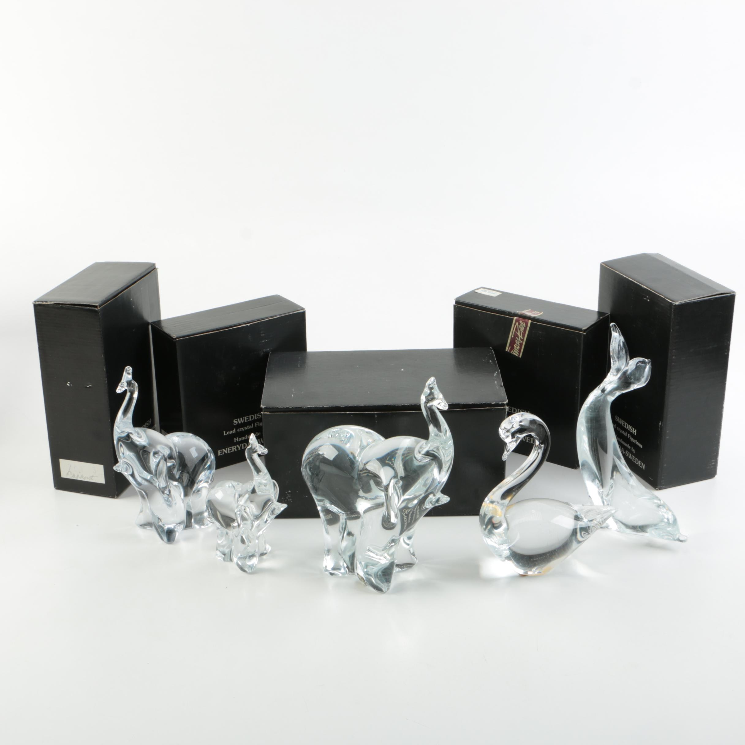 Eneryda Crystal Animal Figurines