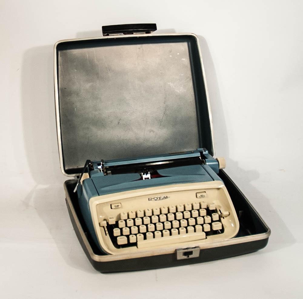 """Vintage Royal """"Aristocrat"""" Typewriter with Case"""