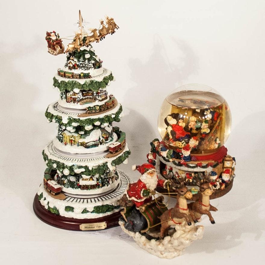 Thomas Kinkade Wonderland Express And Santa Theme Collectibles Ebth