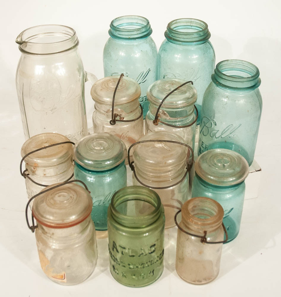 Vintage Ball Glass Canning Jar Collection