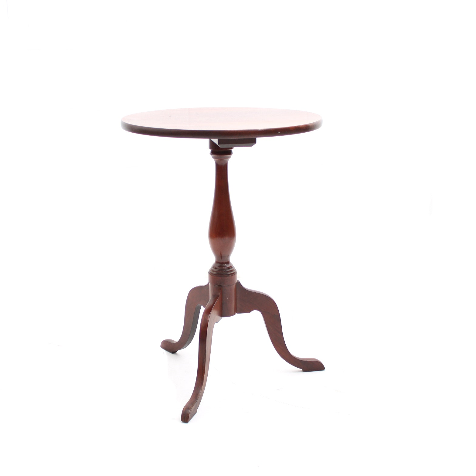 Vintage Carl Forslund Cherry Queen Anne Style Accent Table