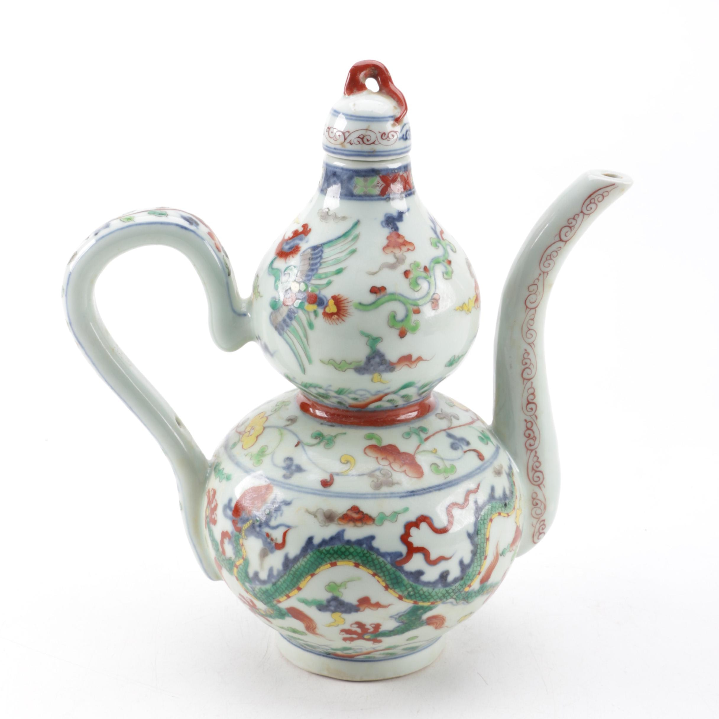 Chinese Porcelain Double Gourd Ewer