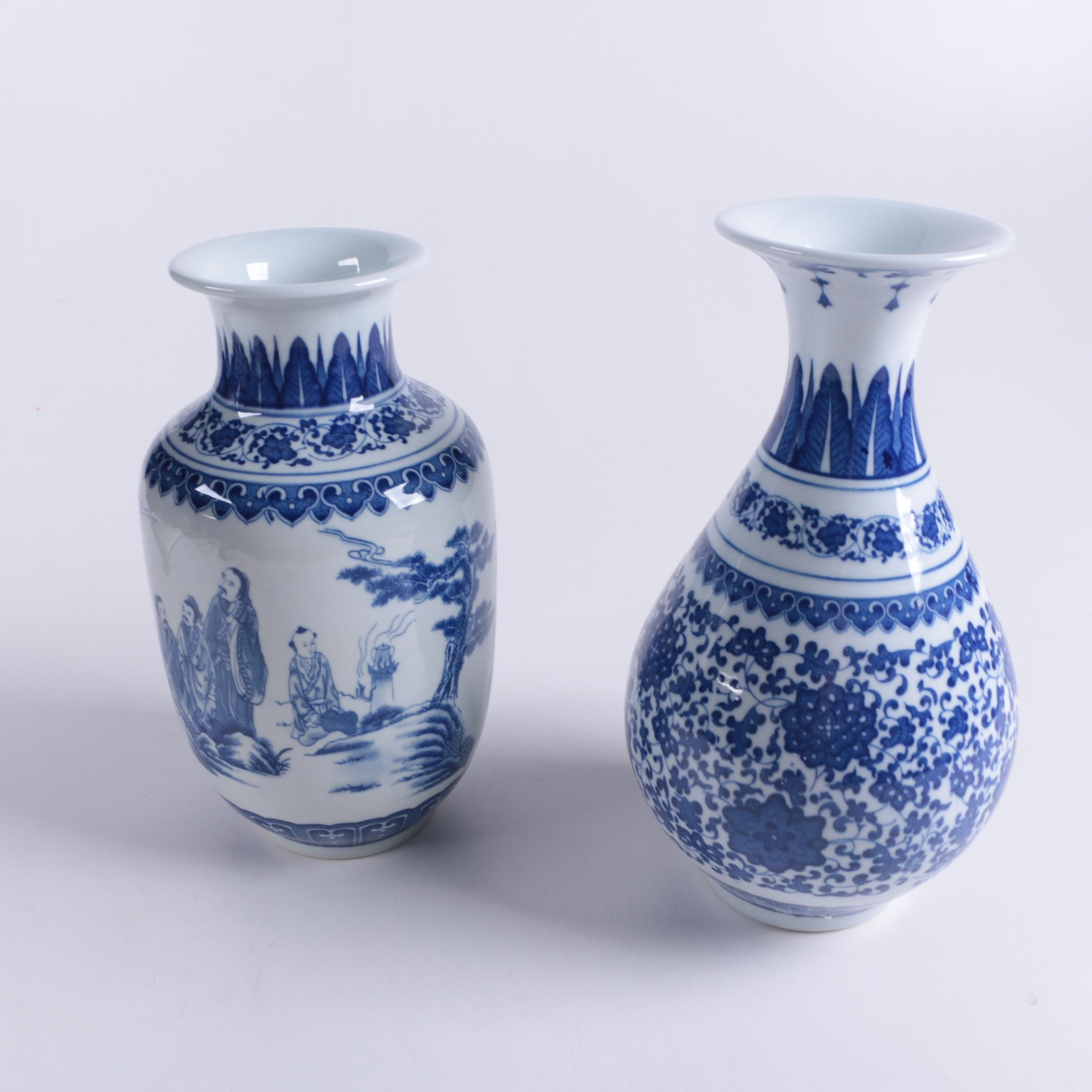 Chinese Blue and White Porcelain Vases