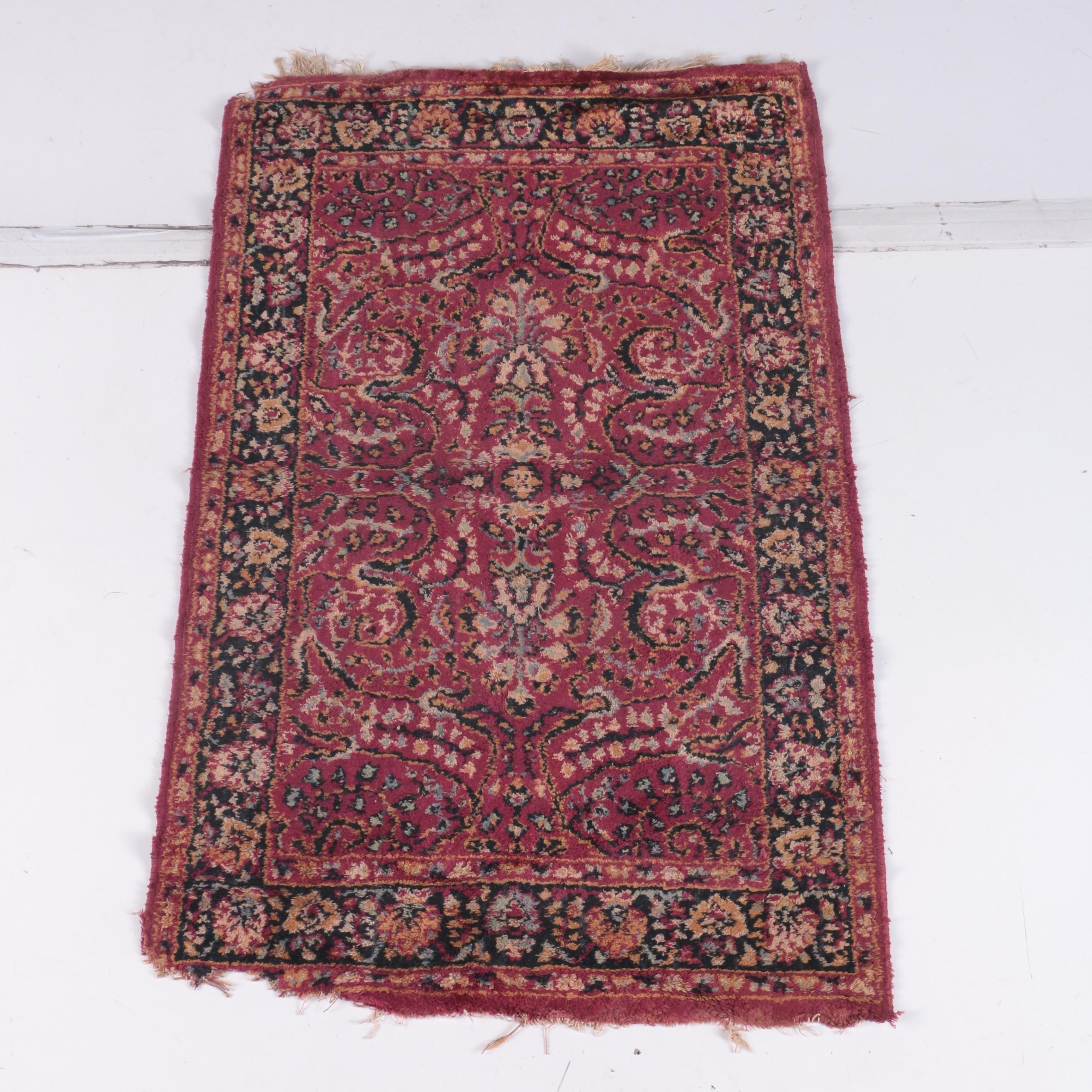 Hand-Knotted Persian Mehriban Wool Accent Rug