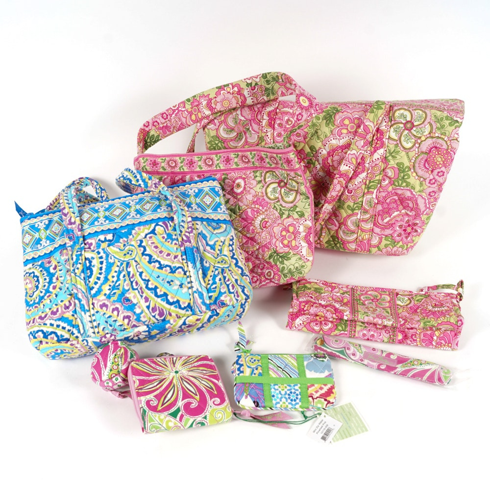 Collection of Vera Bradley Handbags and Accessories