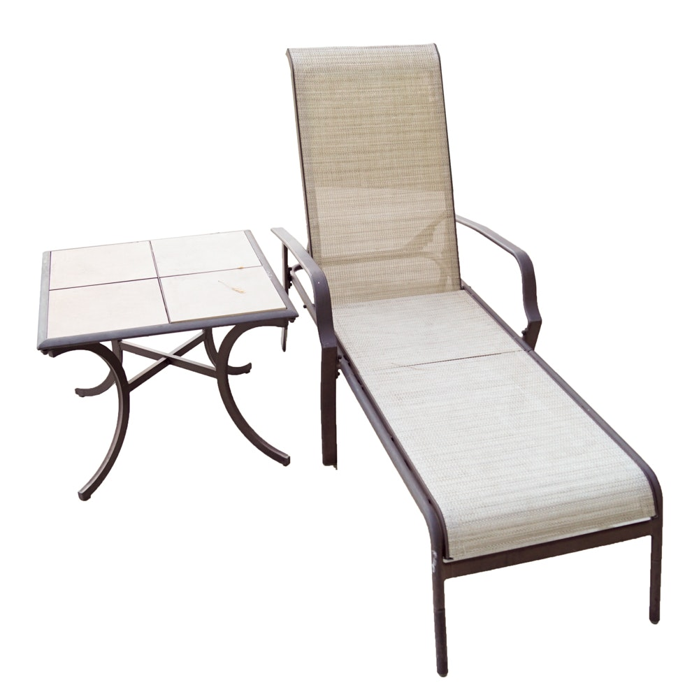 Metal Patio Chair and Table by Hampton Bay