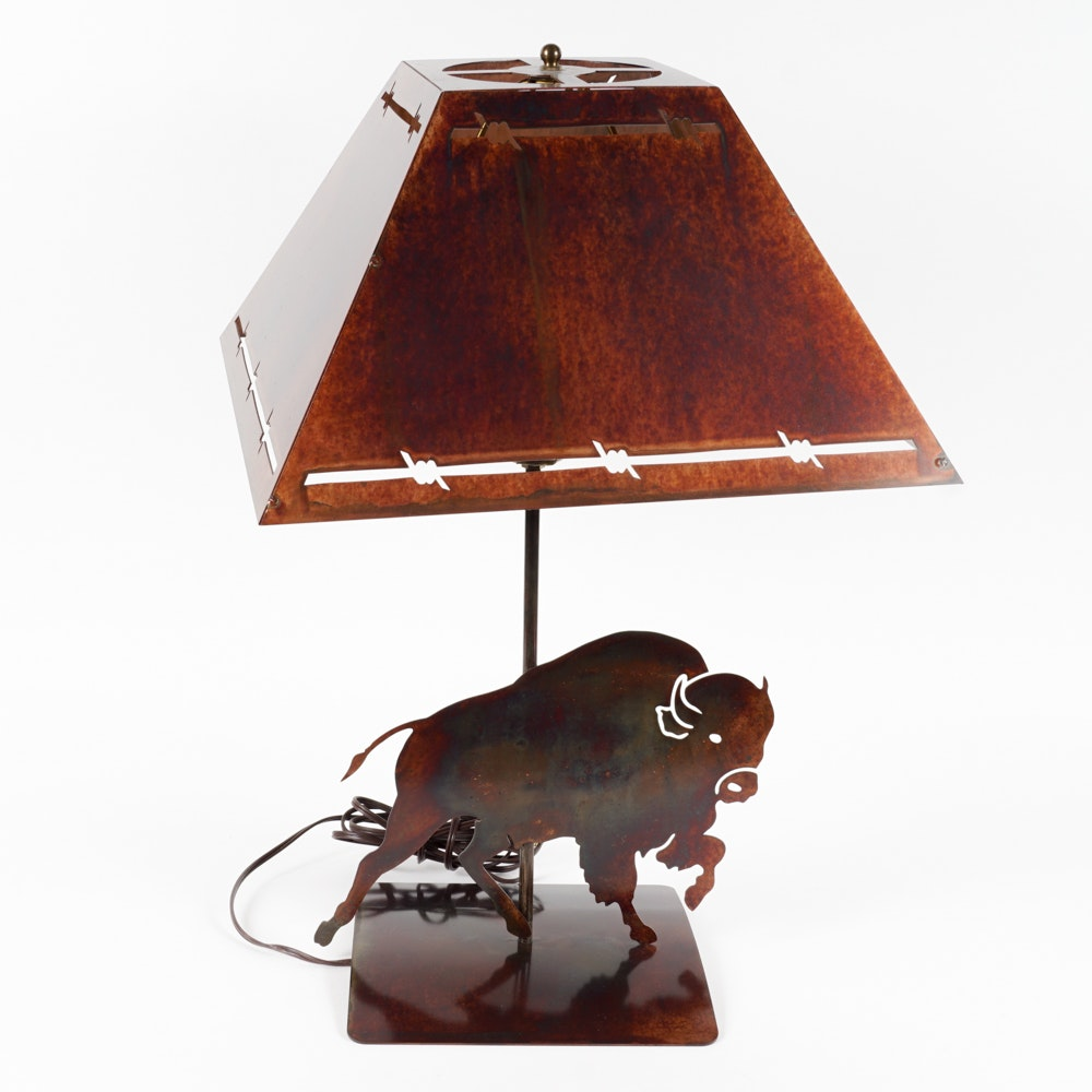 Metal Figural Table Lamp