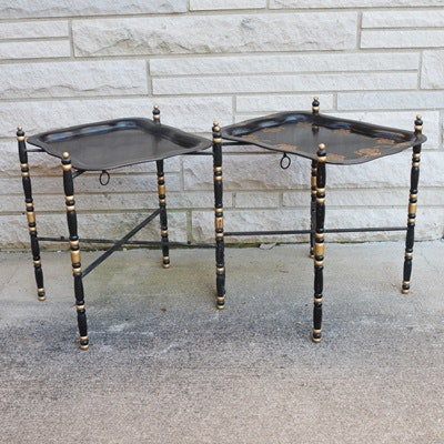 Vintage Metal Tray Tables ...