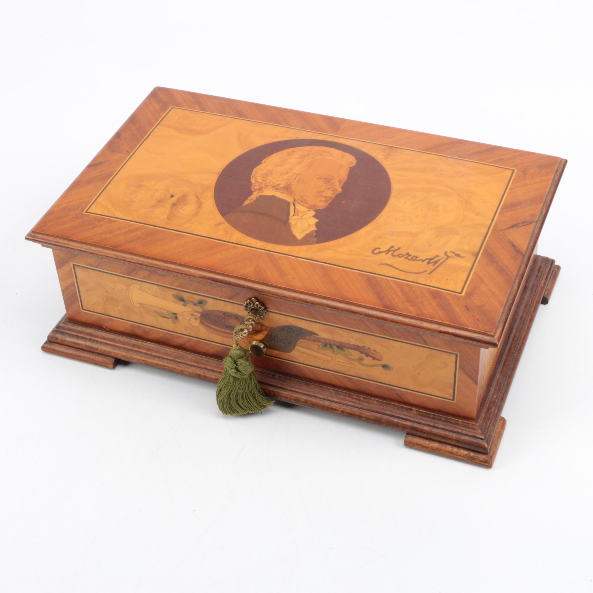 Mozart Wooden Music Box by Reuge