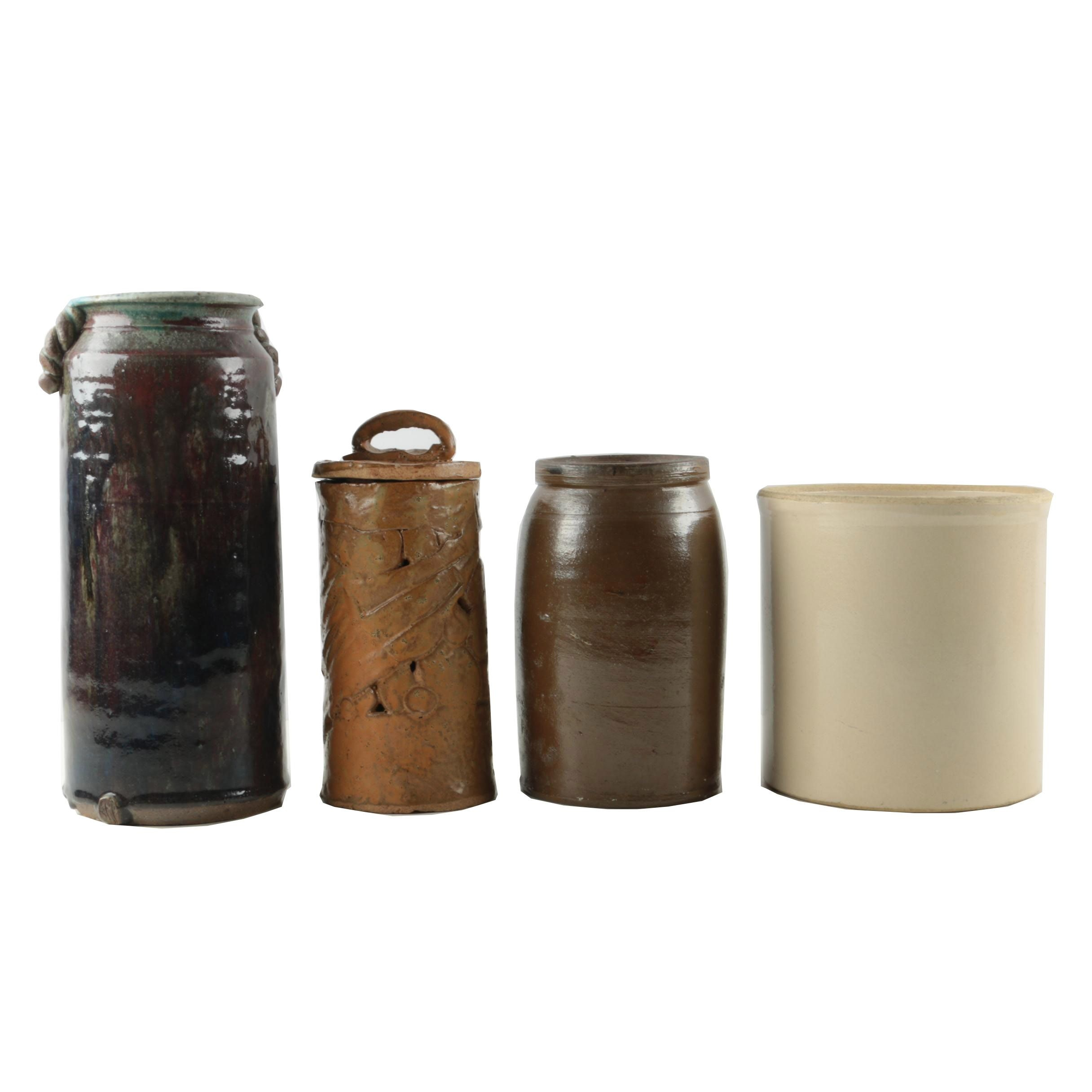 Hand Thrown Stoneware Crocks and Vessels