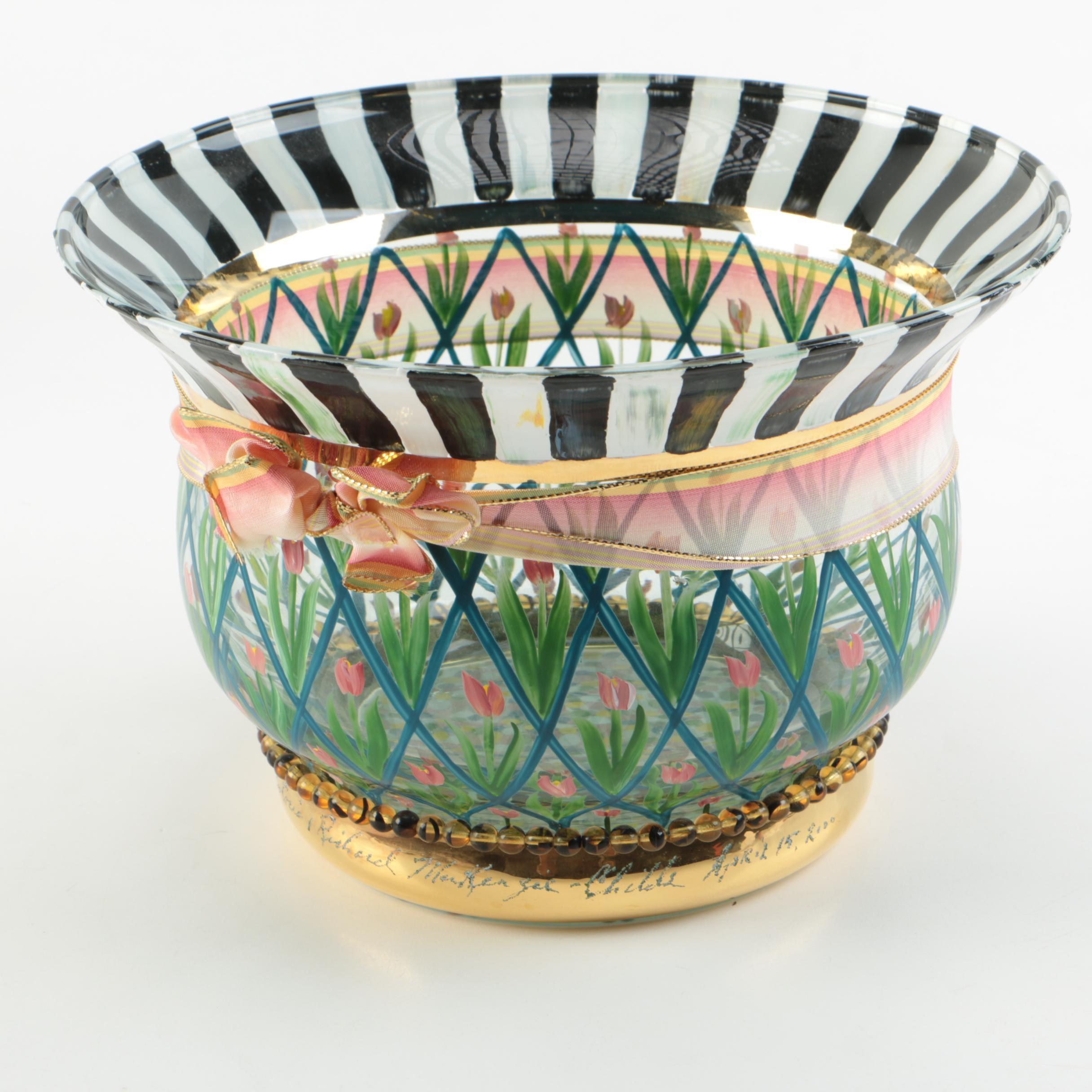 Handcrafted MacKenzie-Childs Art Glass Bowl
