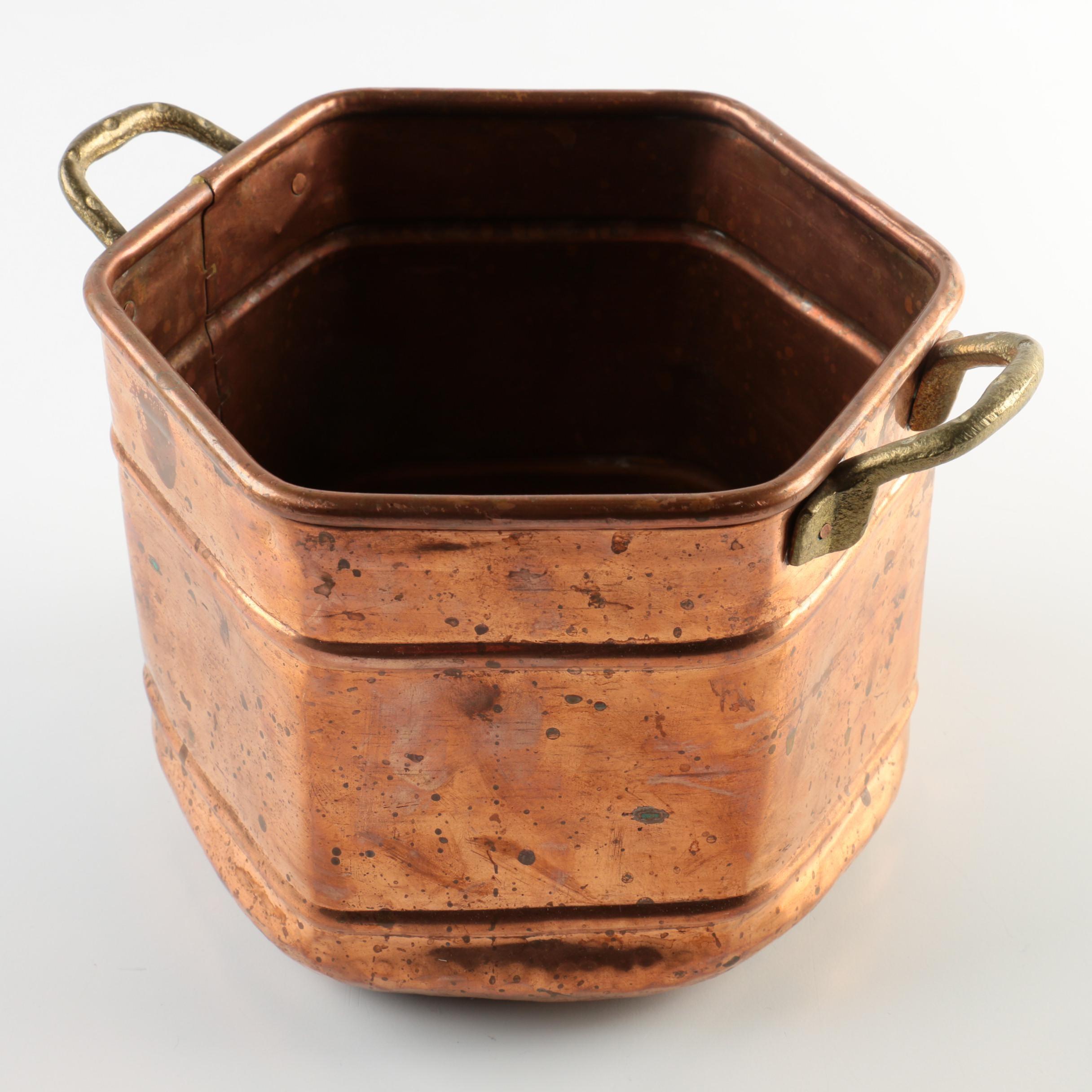Hexagonal Copper Pot