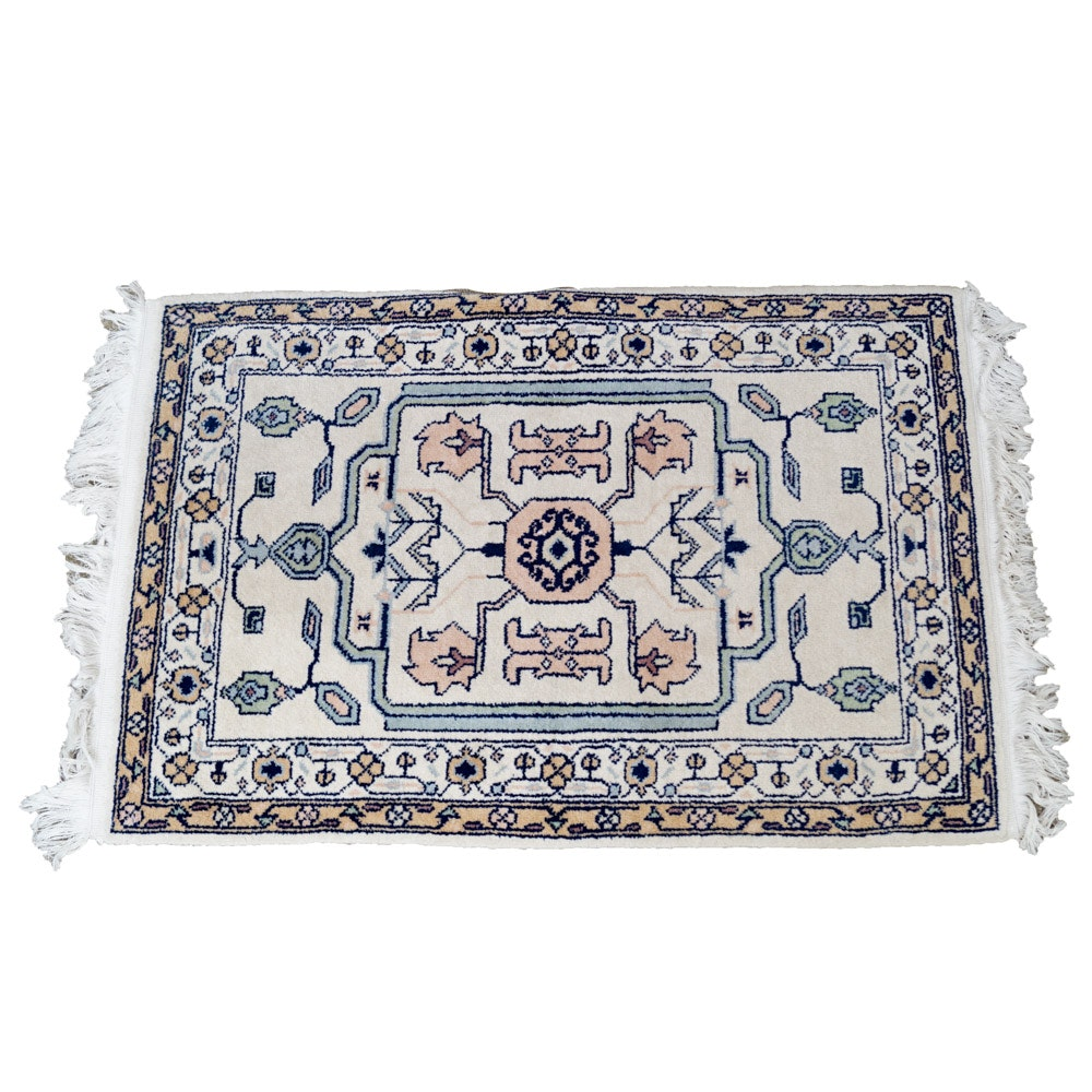 Power Loomed Persian-Style Wool Accent Rug