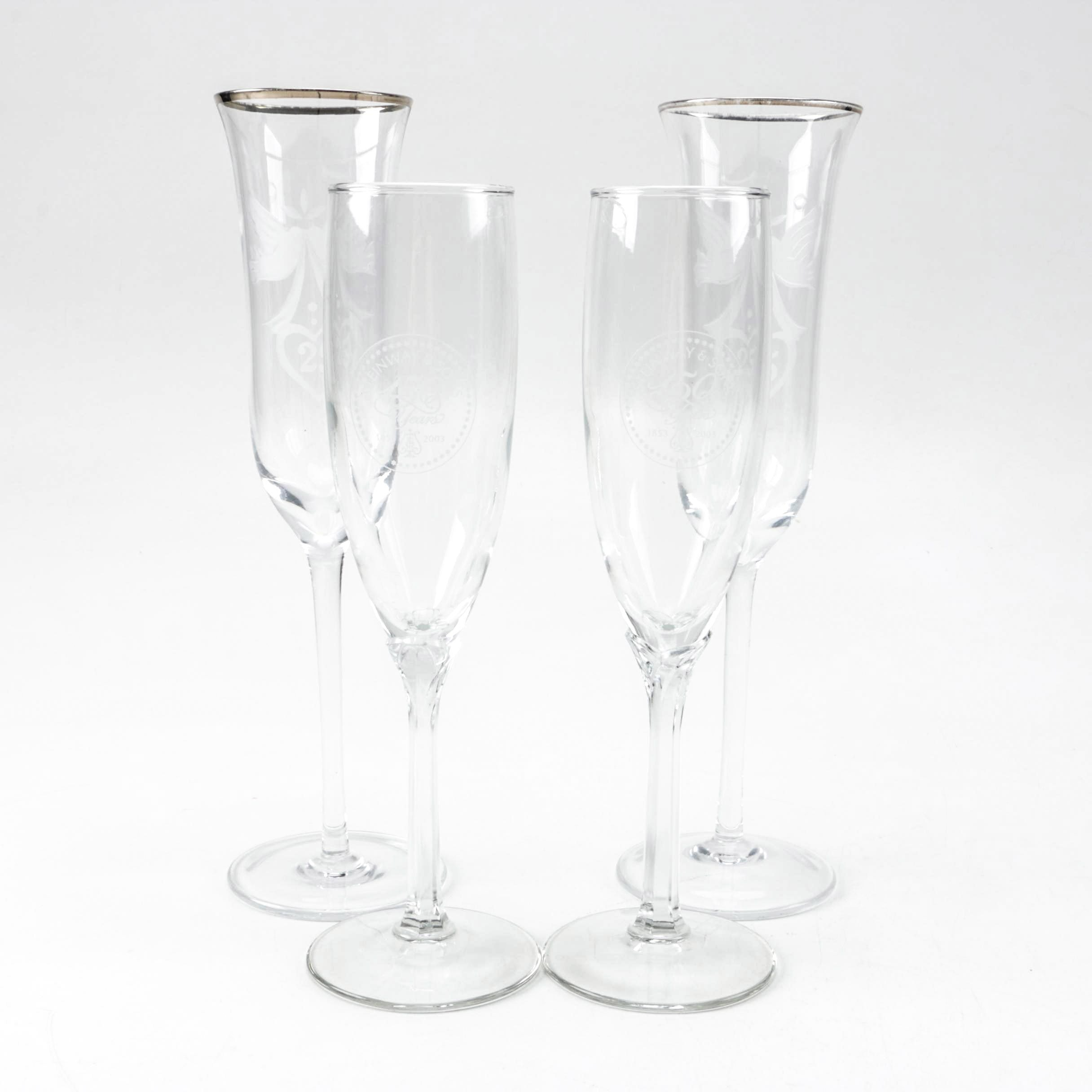 Steinway & Sons Commemorative Champagne Flutes