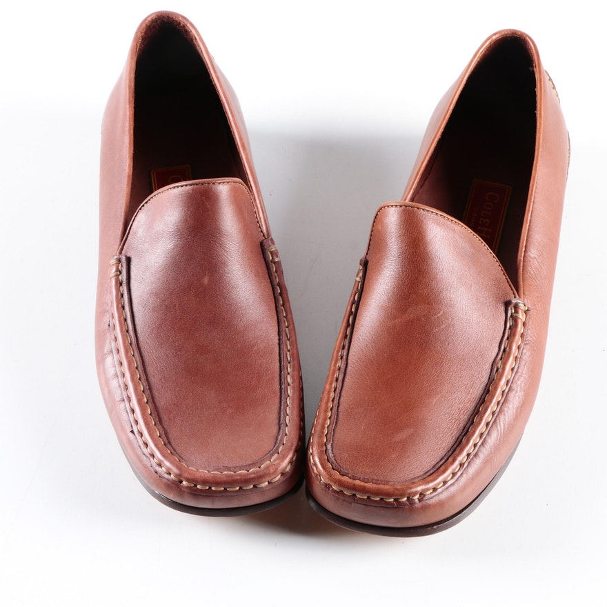 08bfa44ec21 Women s Cole Haan Country Brown Leather Loafers   EBTH