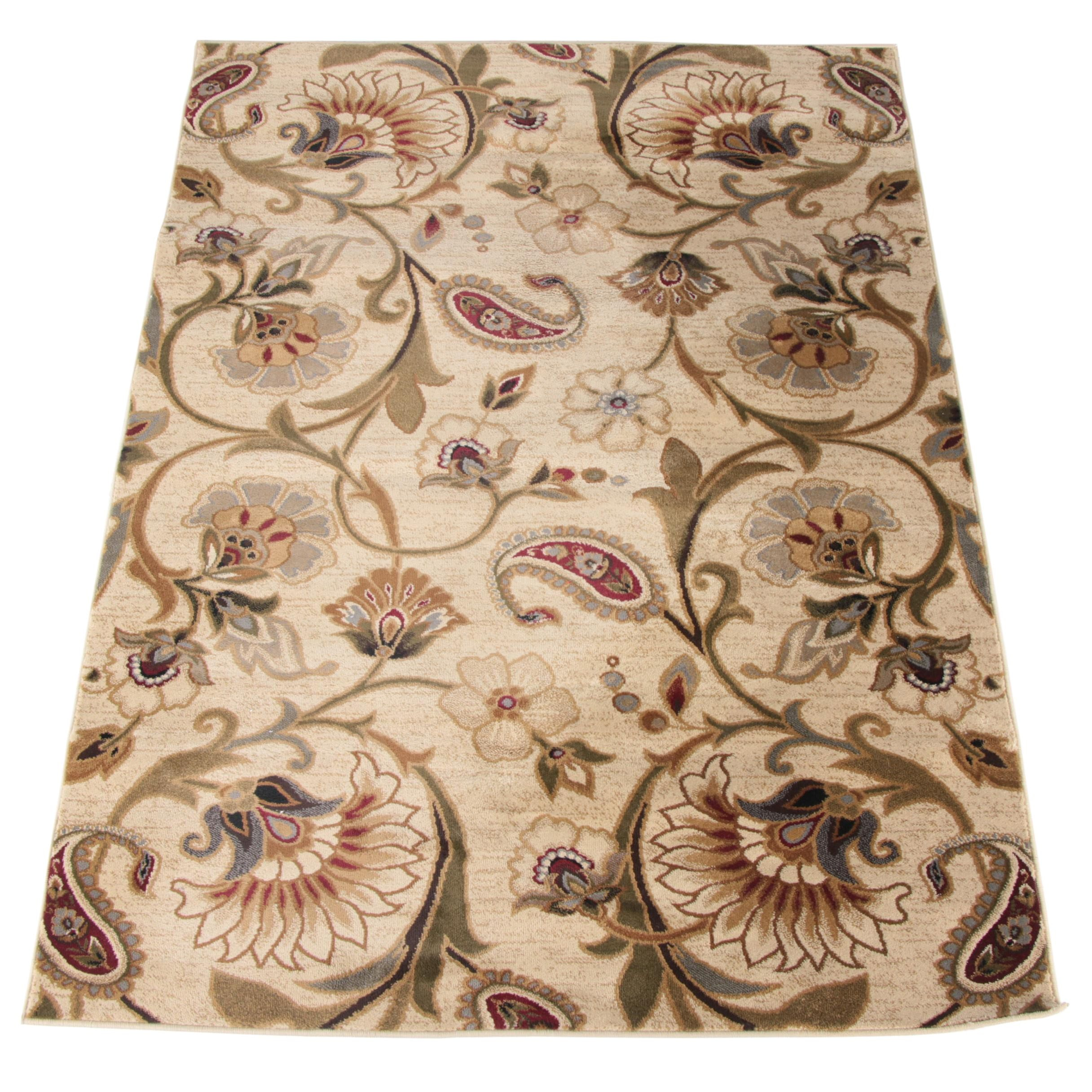 Power-Loomed Floral Area Rug by Tayse Rugs