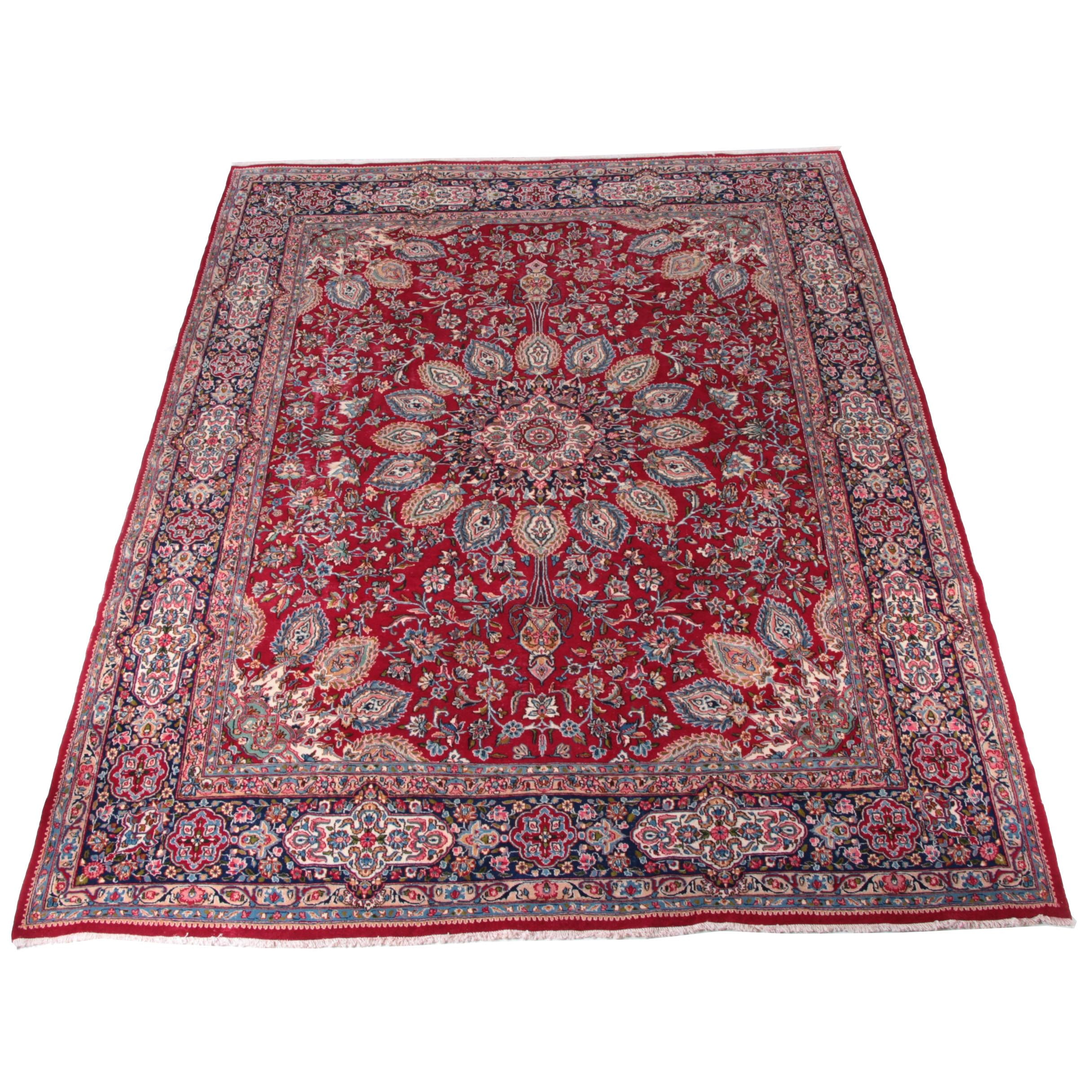 Finely Hand-Knotted Persian Kerman Wool Area Rug by Khazai