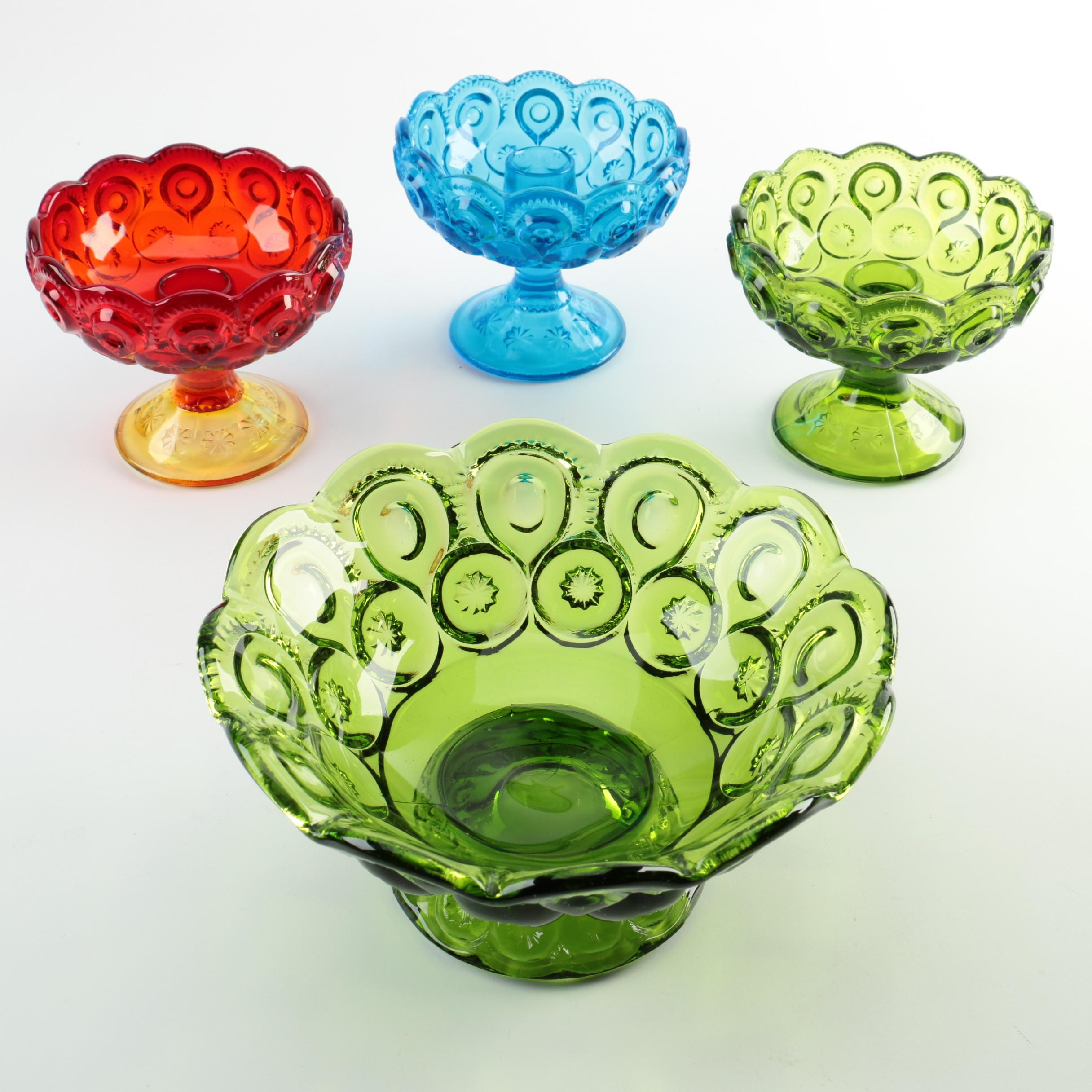 """Smith Glass """"Moon and Stars"""" Compotes"""