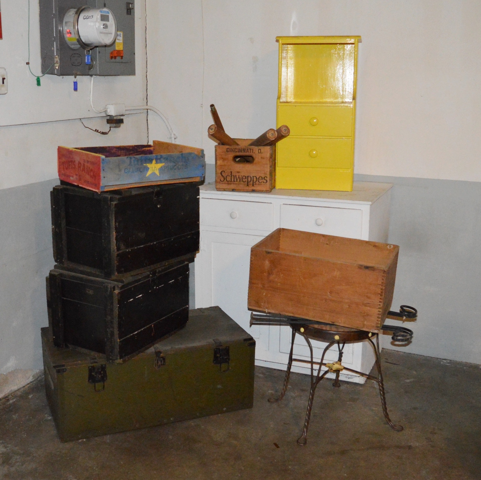 Wooden Military Boxes, Crates and Cabinets