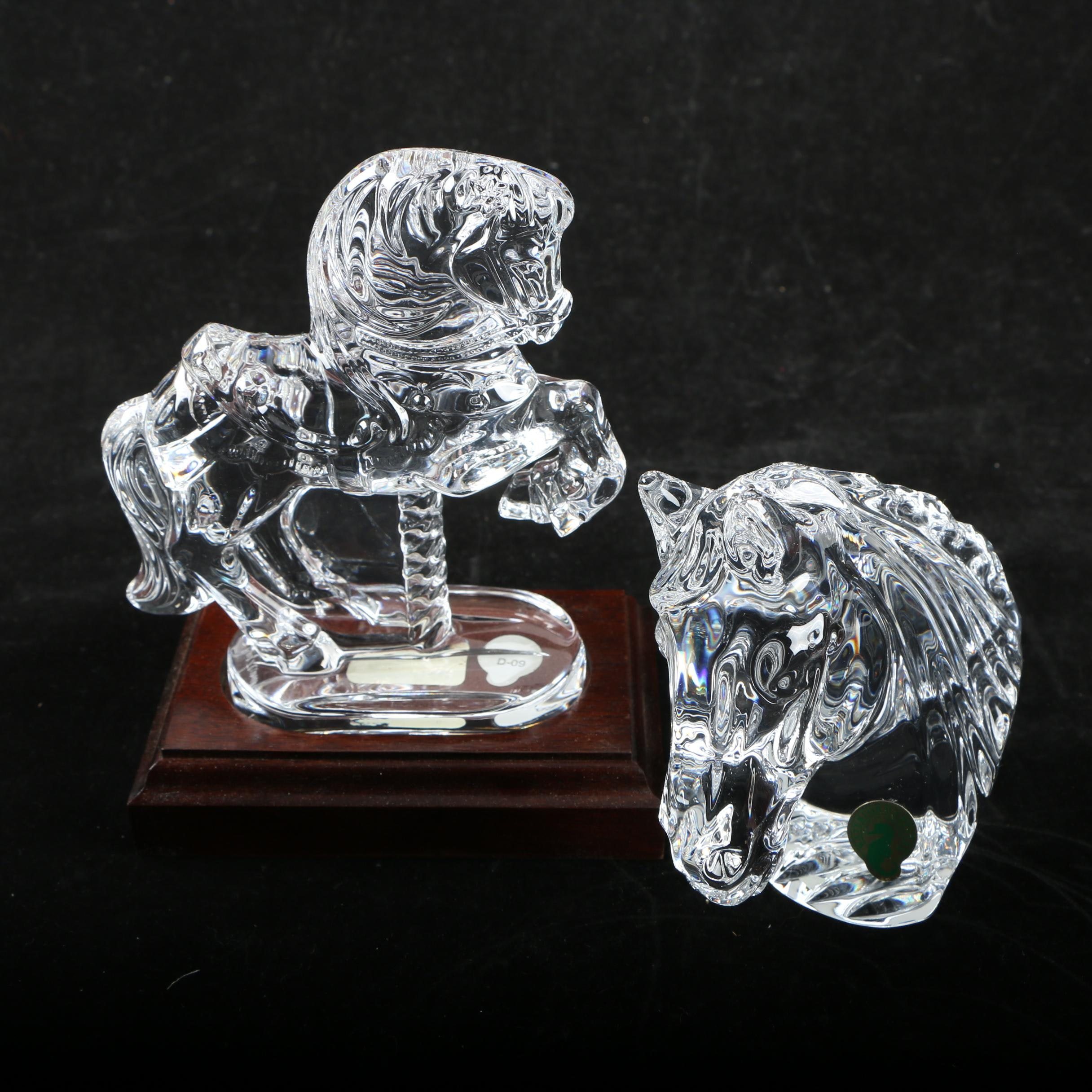 Pairing of Waterford Crystal Horse Figurines