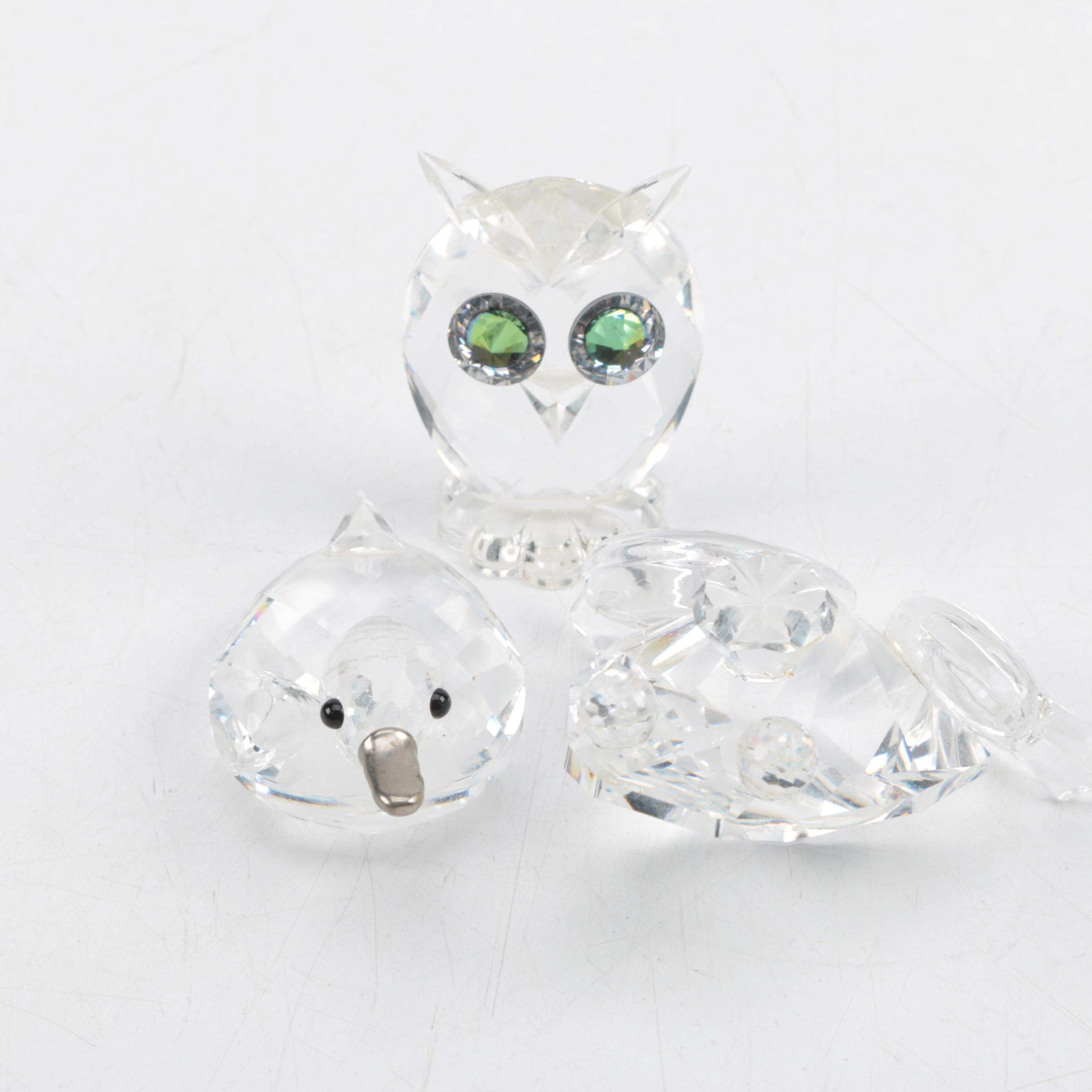 Swarovski Crystal Animal Figurines Featuring Frog Prince