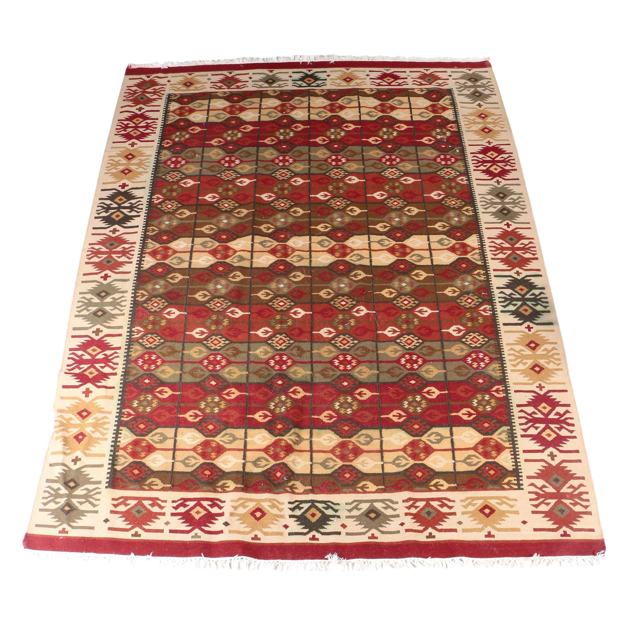 Handwoven Romanian Bessarabian Kilim Wool Area Rug